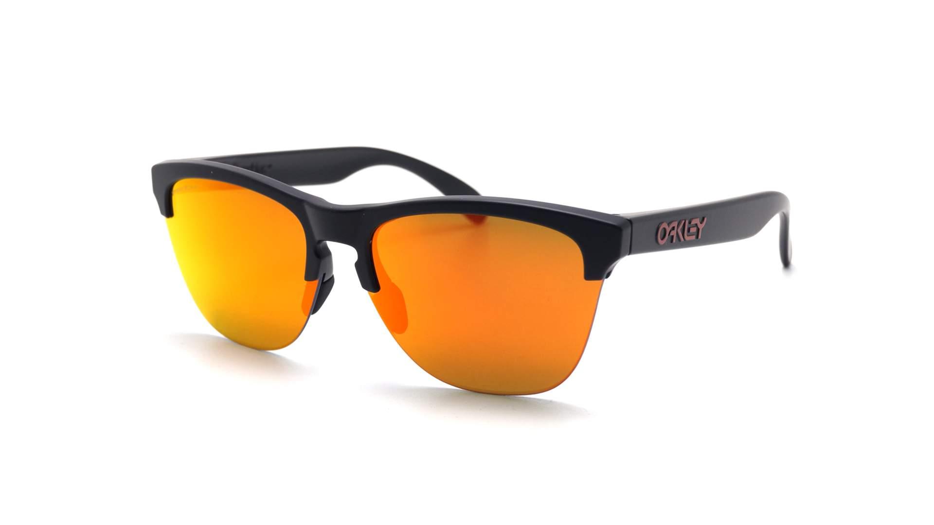 f7caf64fa4 Sunglasses Oakley Frogskins Lite Matte black OO9374 04 63-10 Prizm Ruby
