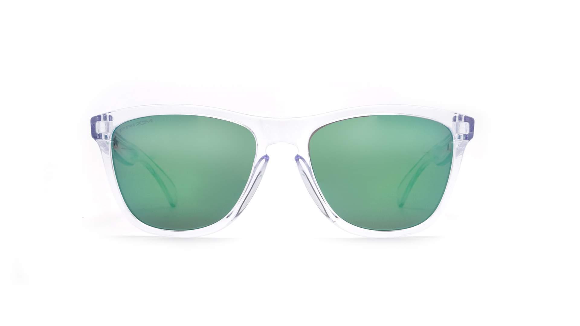 1ebef5d04 Sunglasses Oakley Frogskins Crystal clear Clear Prizm OO9013 D6 55-17  Medium Mirror