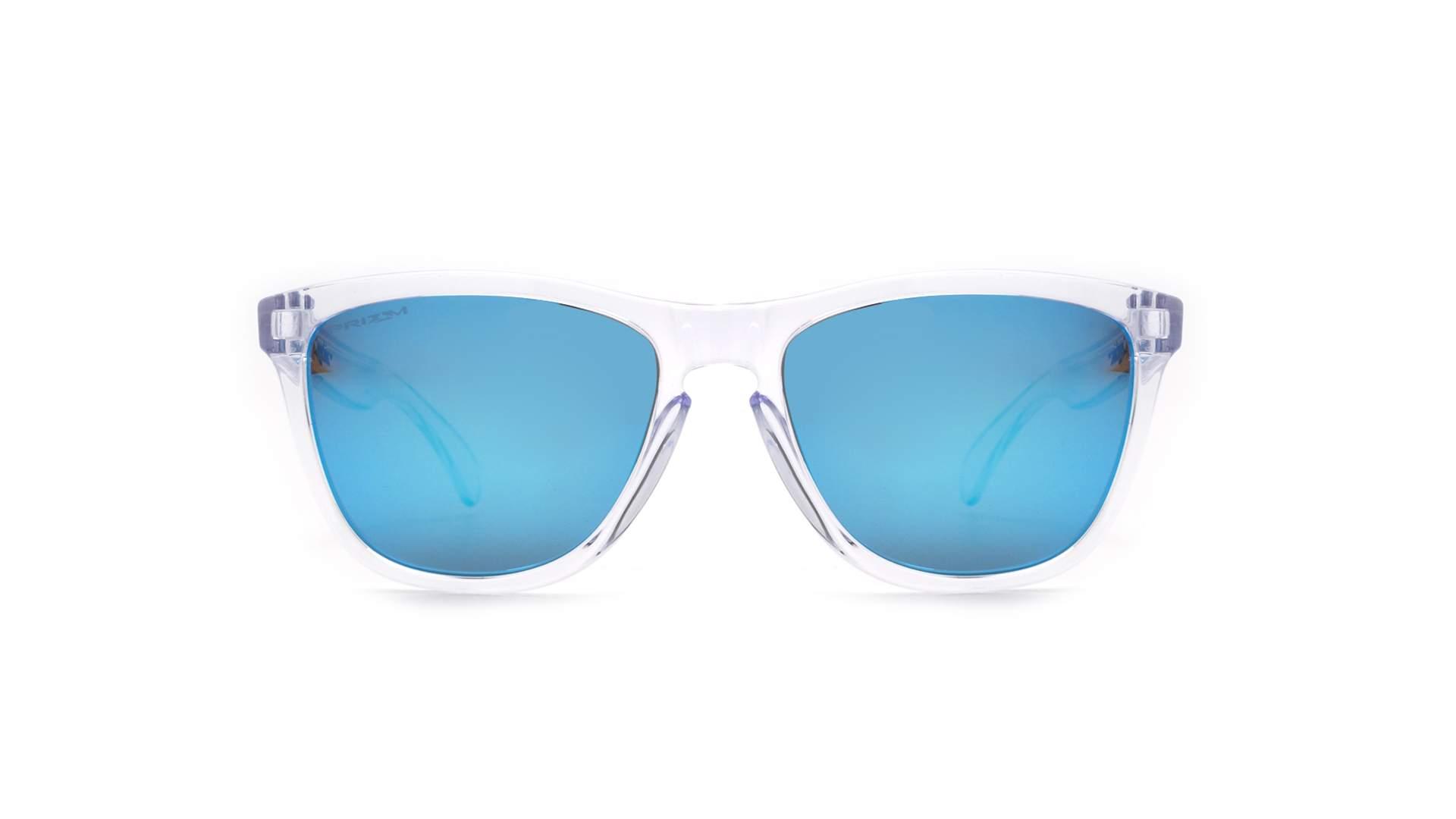 42454e51bd Sunglasses Oakley Frogskins Crystal clear Clear Prizm OO9013 D0 55-17  Medium Mirror