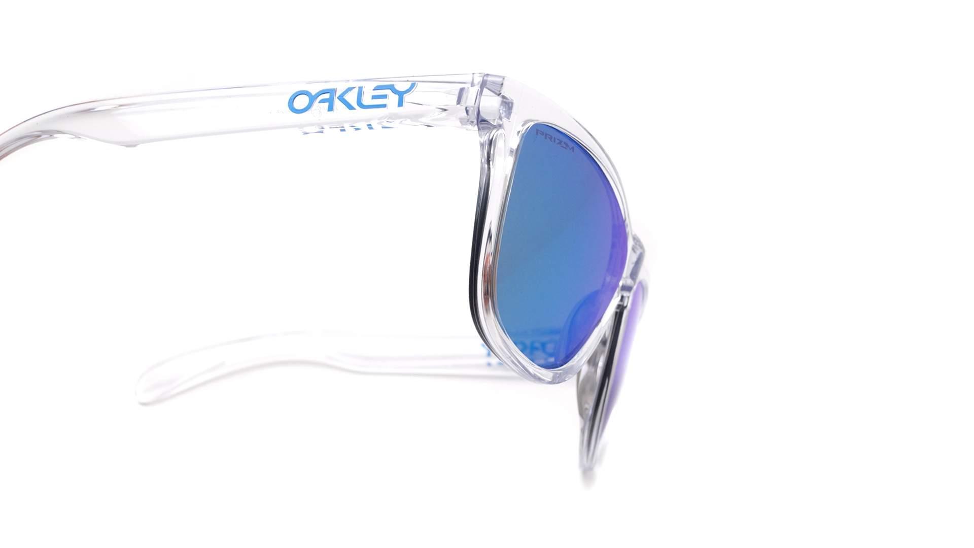 89d06f141 Sunglasses Oakley Frogskins Crystal clear Clear Prizm OO9013 D0 55-17  Medium Mirror