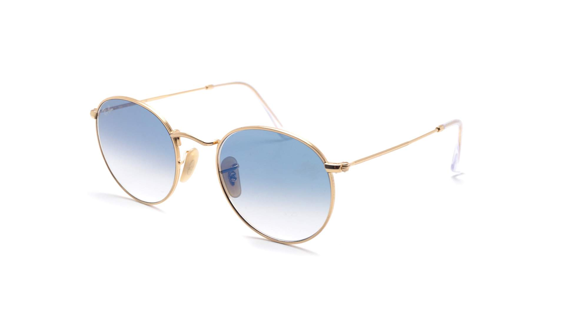 ca2e92aa75 Sunglasses Ray-Ban Round metal Flat Lenses Gold RB3447N 001 3F 50-21 Medium  Gradient