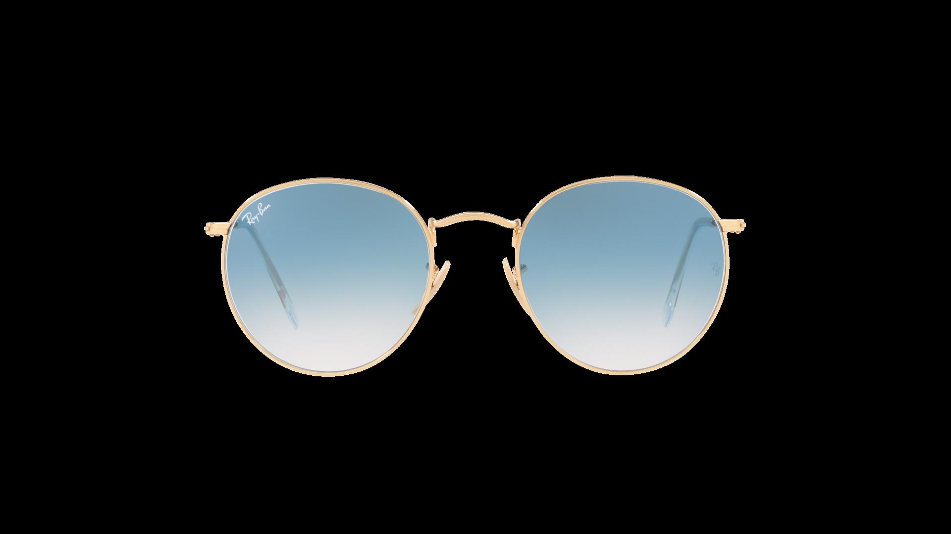 4b407f5f224 Sunglasses Ray-Ban Round metal Flat Lenses Gold RB3447N 001 3F 50-21 Medium  Gradient