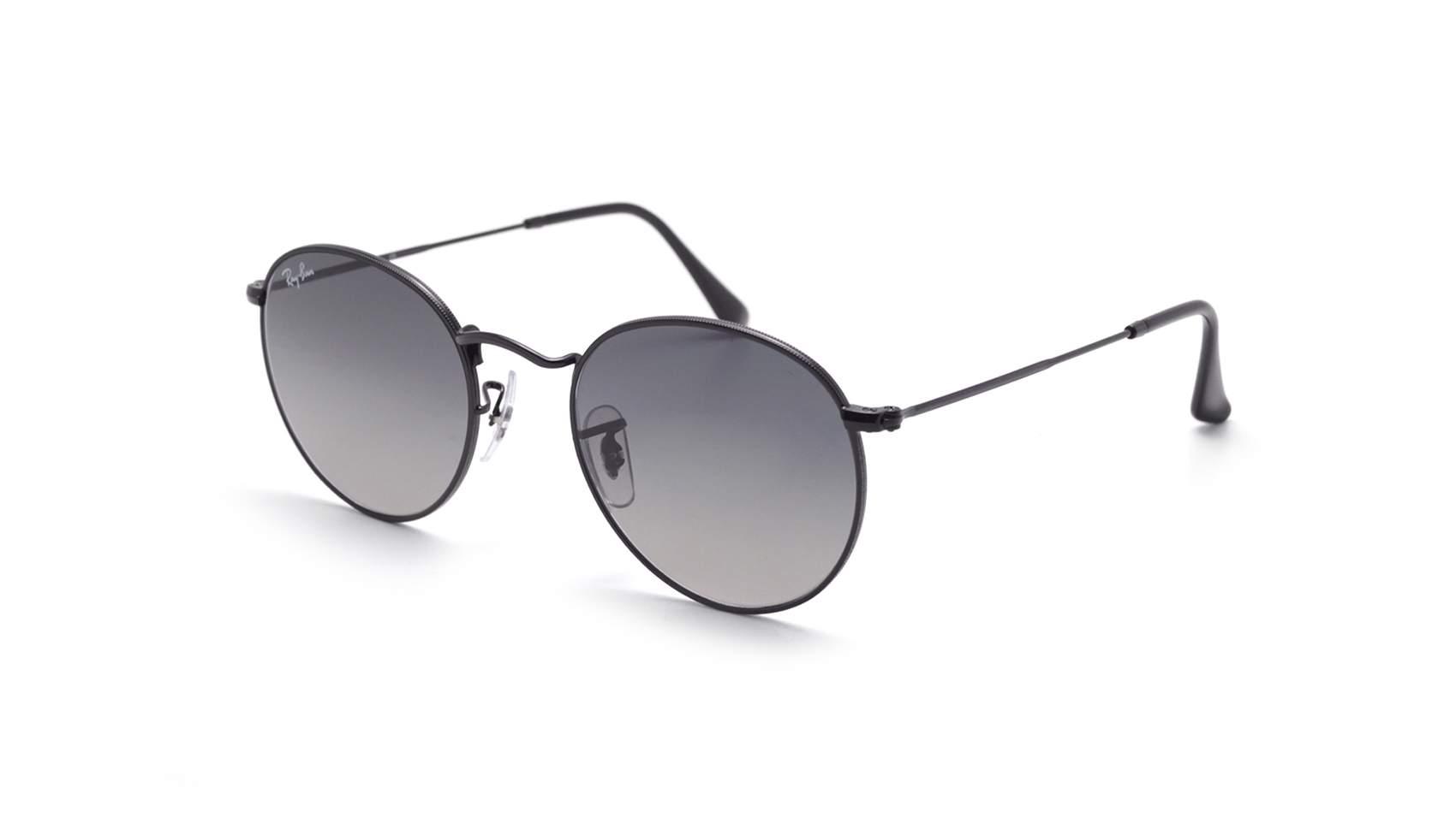 1429930ebb Sunglasses Ray-Ban Round metal Flat Lenses Black RB3447N 002 71 53-21 Large