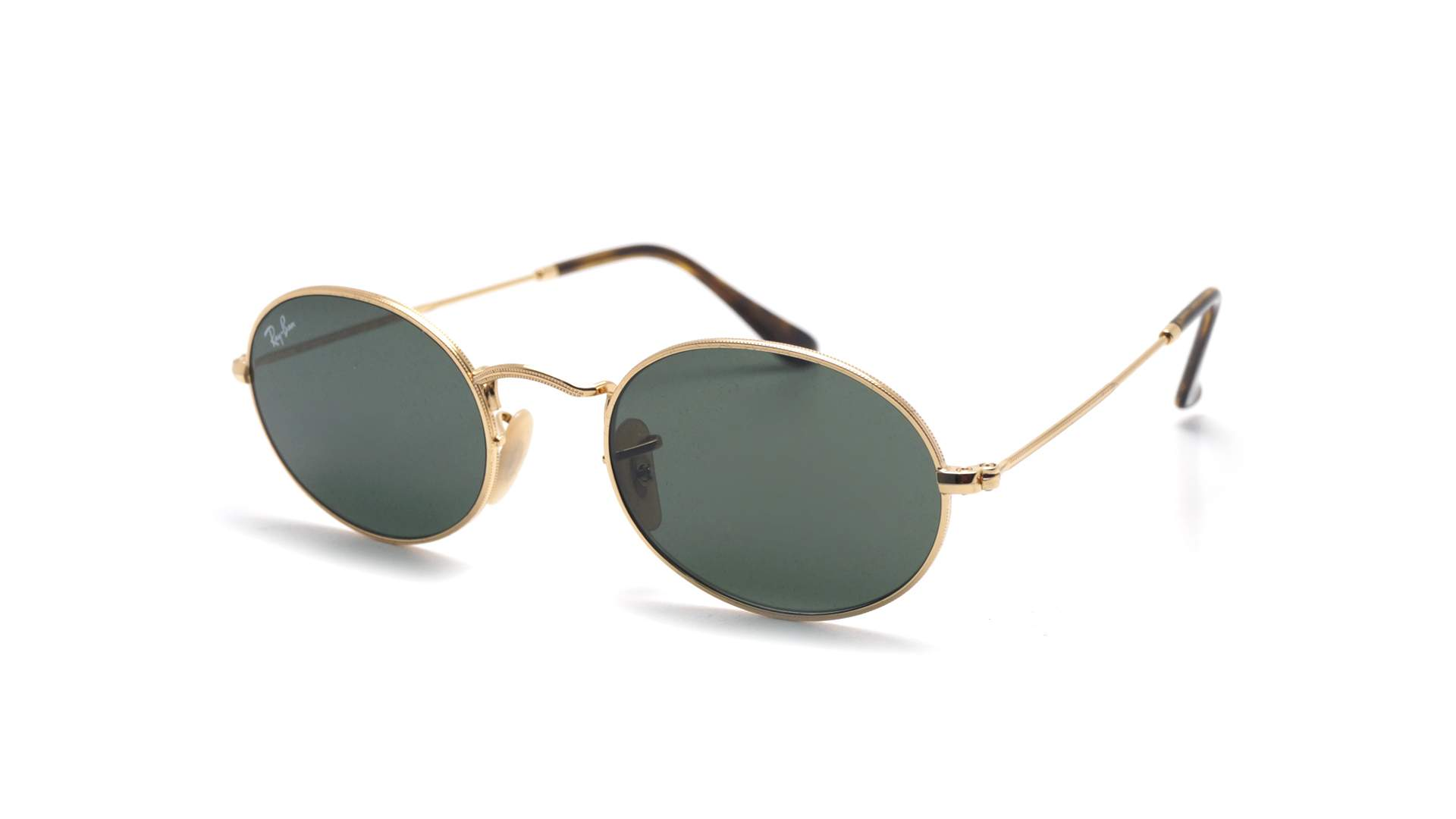 94ac508e41 Sunglasses Ray-Ban Oval Flat Lenses Gold G-15 RB3547N 001 51-21 Medium