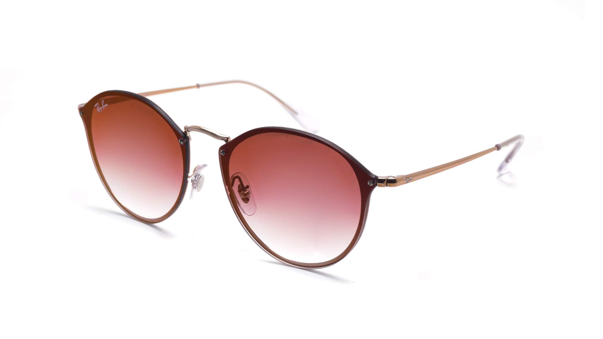 631d1c5bcefe Sunglasses Ray-Ban Round Blaze Gold RB3574N 9035/V0 59-14 Large Gradient  Mirror