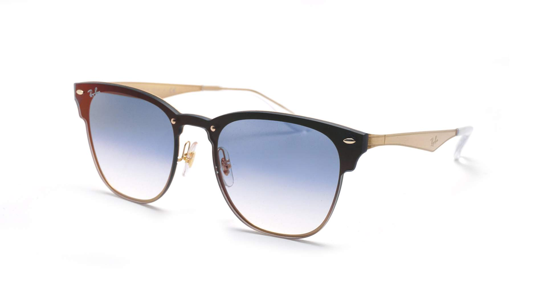3a9ce1be117 Sunglasses Ray-Ban Clubmaster Blaze Gold RB3576N 043 X0 Medium