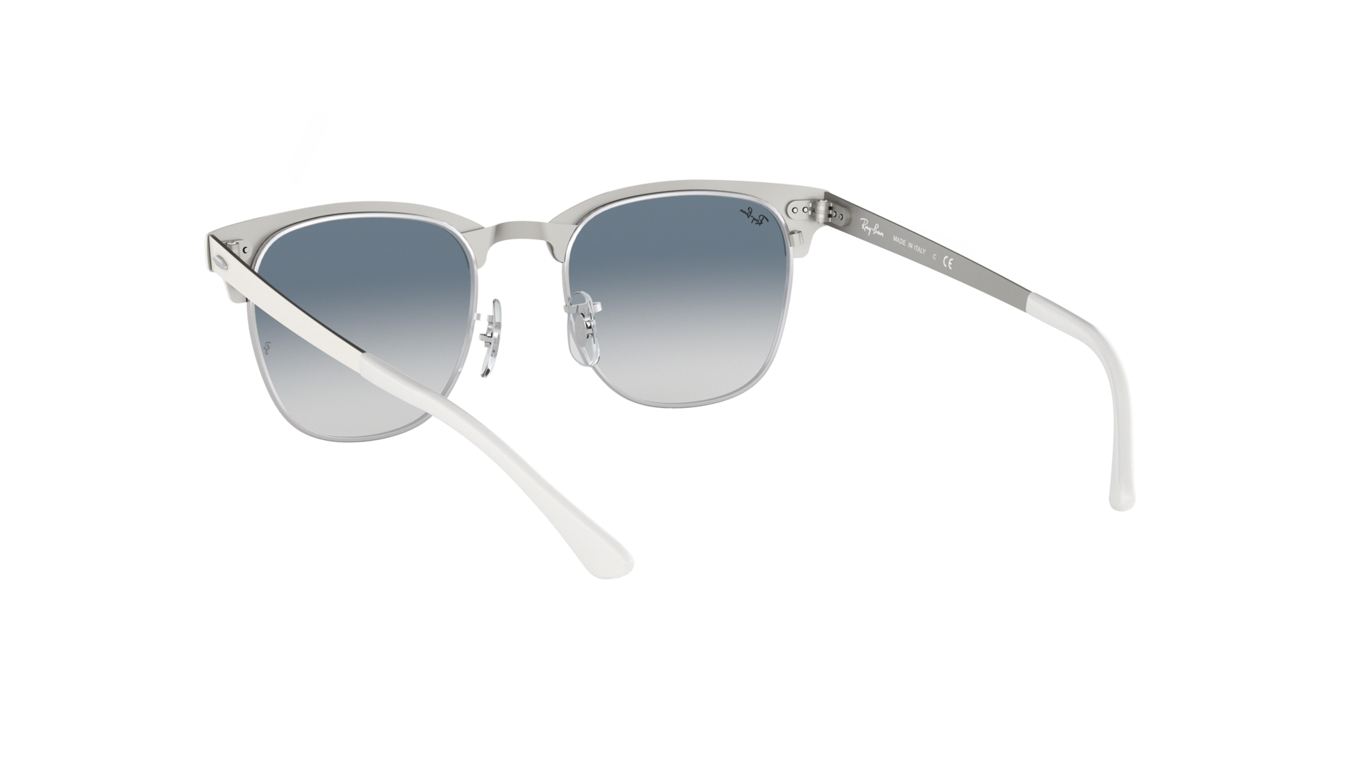 f28ef370f11 Sunglasses Ray-Ban Clubmaster Metal White RB3716 9088 3F 51-21 Medium  Gradient