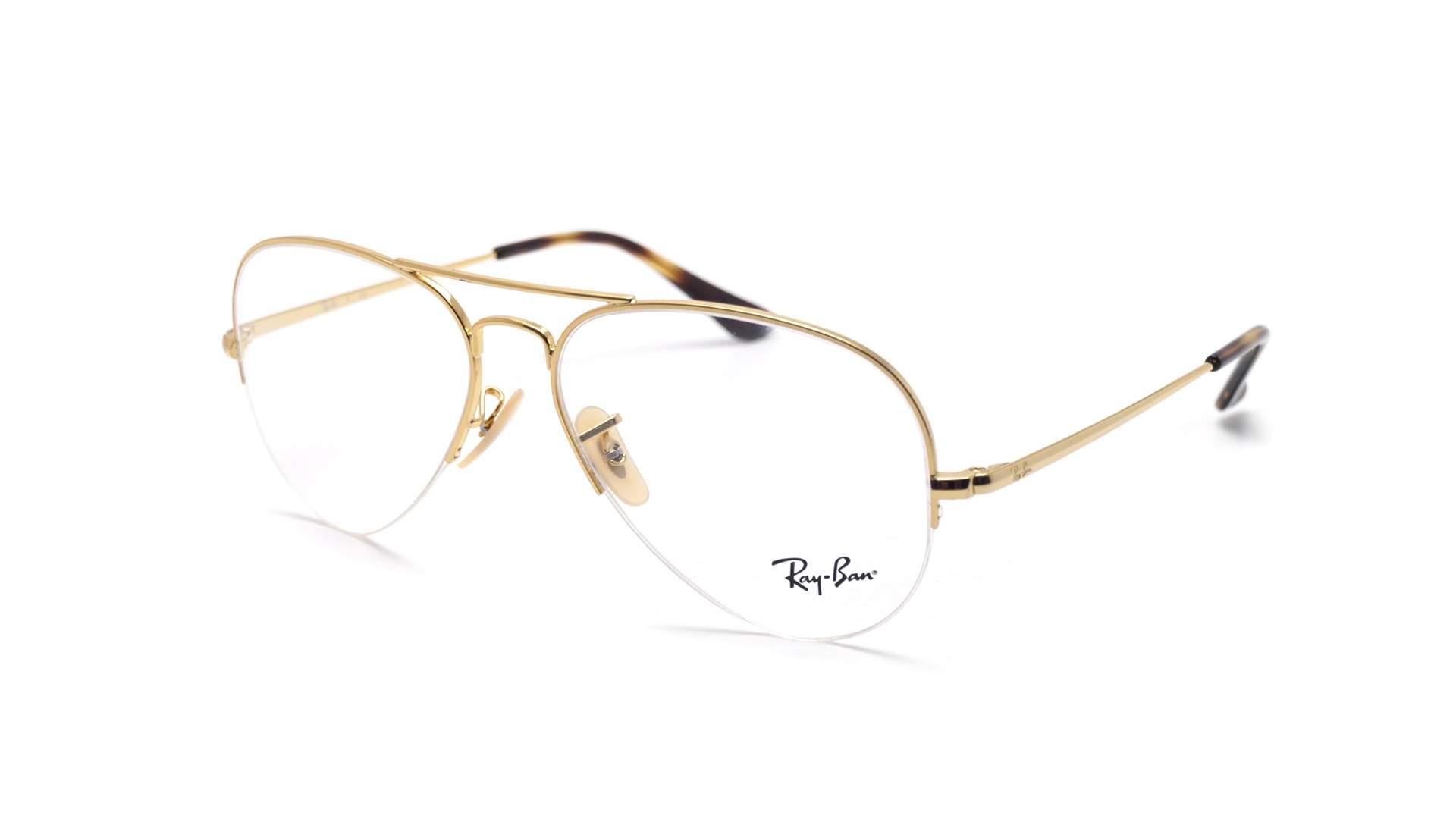 c481c72db Eyeglasses Ray-Ban Aviator Gaze Gold RX6589 RB6589 2500 59-15 Large
