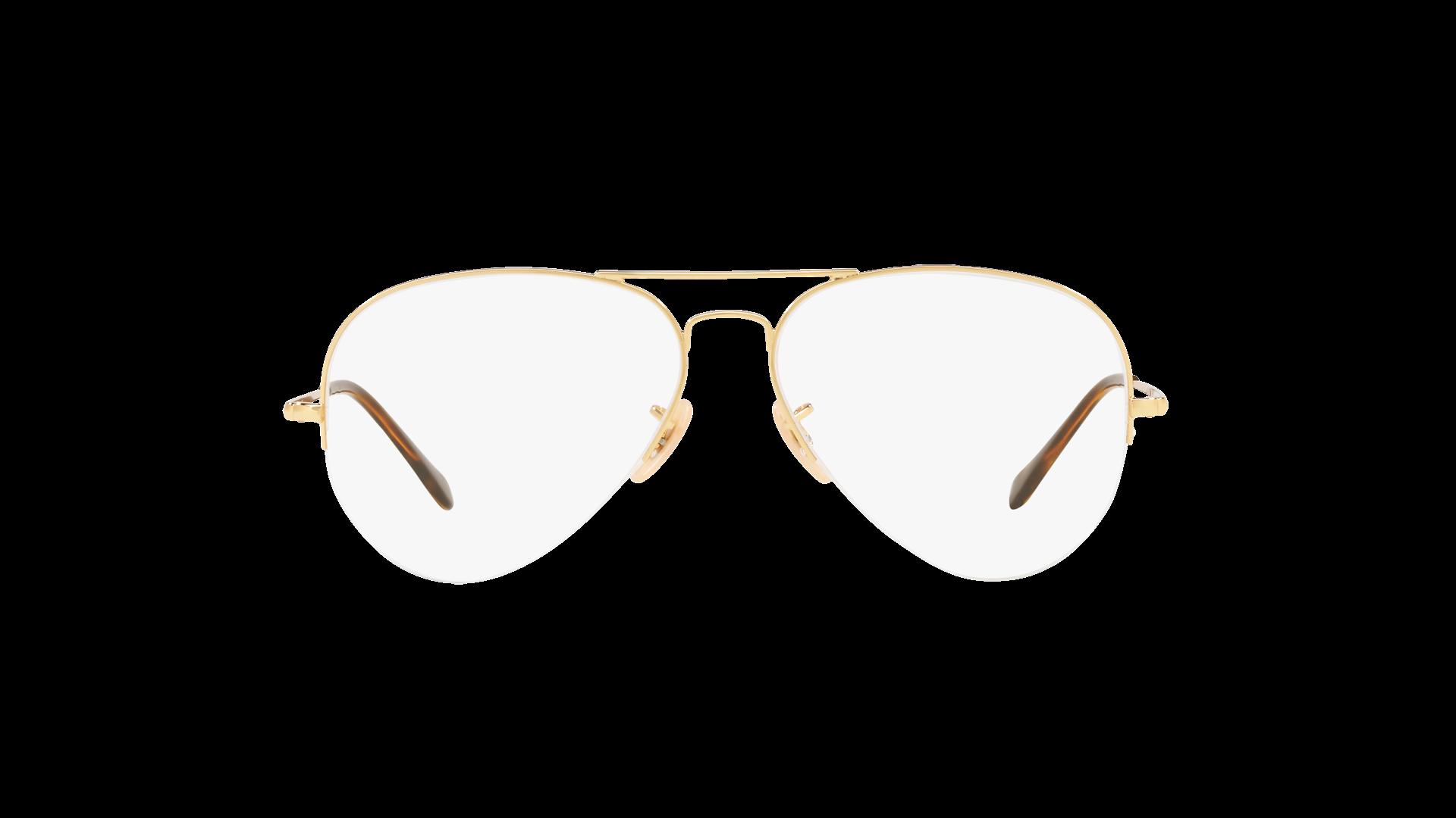 bf4de97d2cfce Eyeglasses Ray-Ban Aviator Gaze Gold RX6589 RB6589 2500 59-15 Large