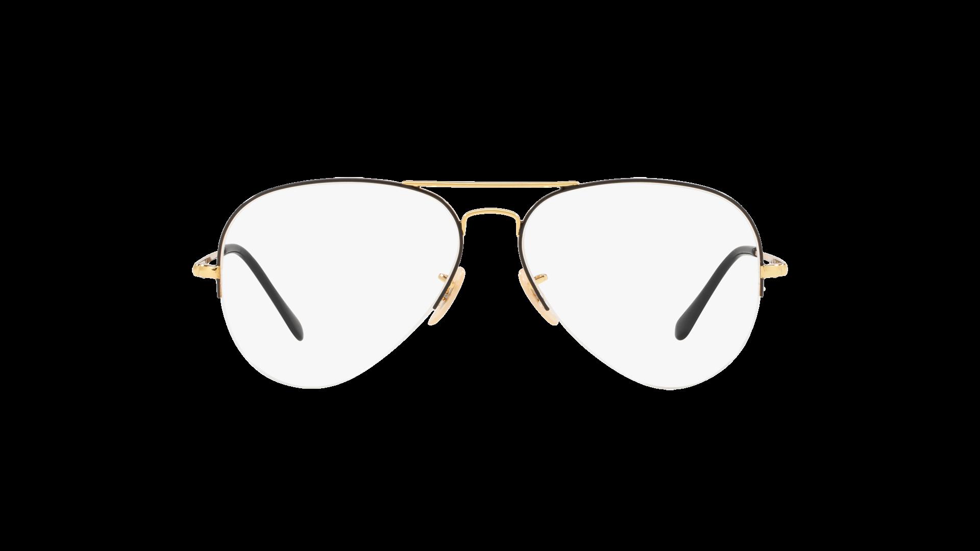 677dc233da Eyeglasses Ray-Ban Aviator Gaze Black RX6589 RB6589 2946 56-15 Medium
