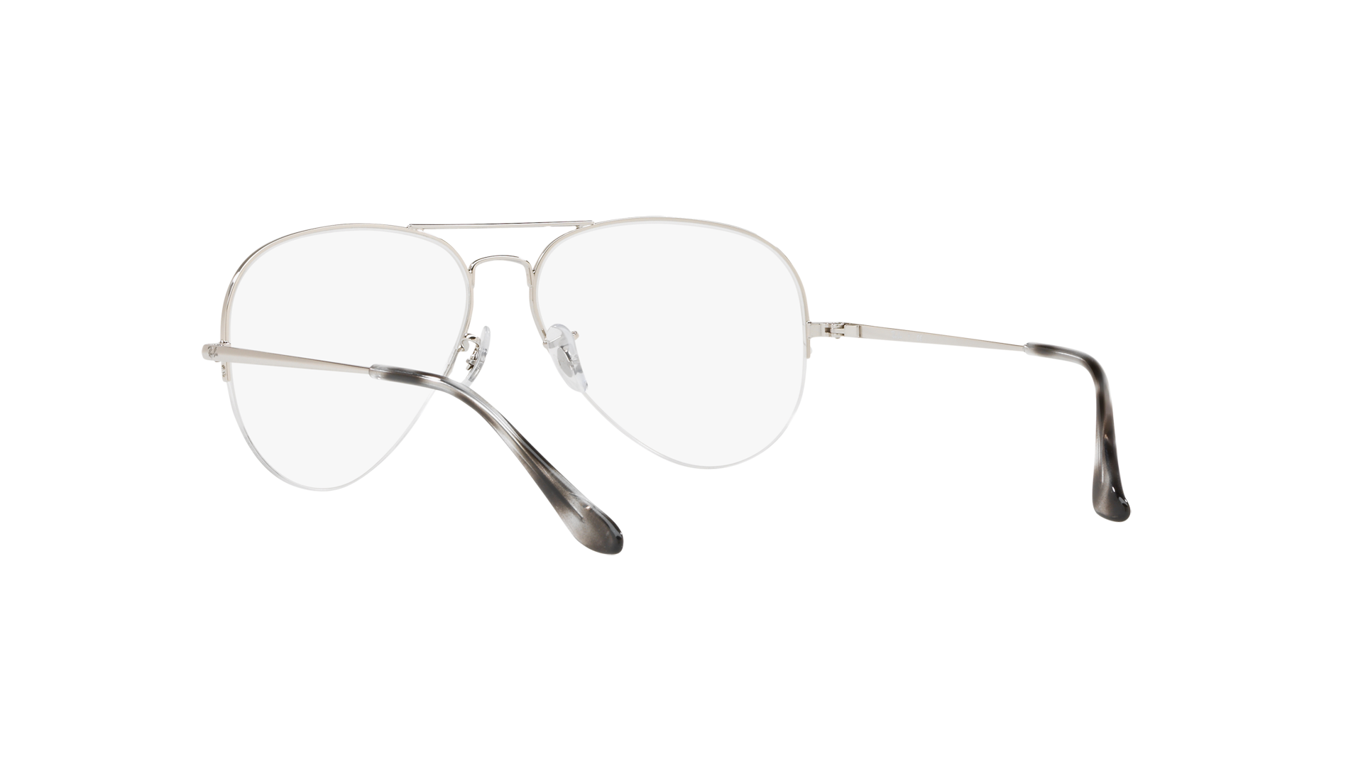 e901ed95f9c Eyeglasses Ray-Ban Aviator Gaze Silver RX6589 RB6589 2501 59-16 Large