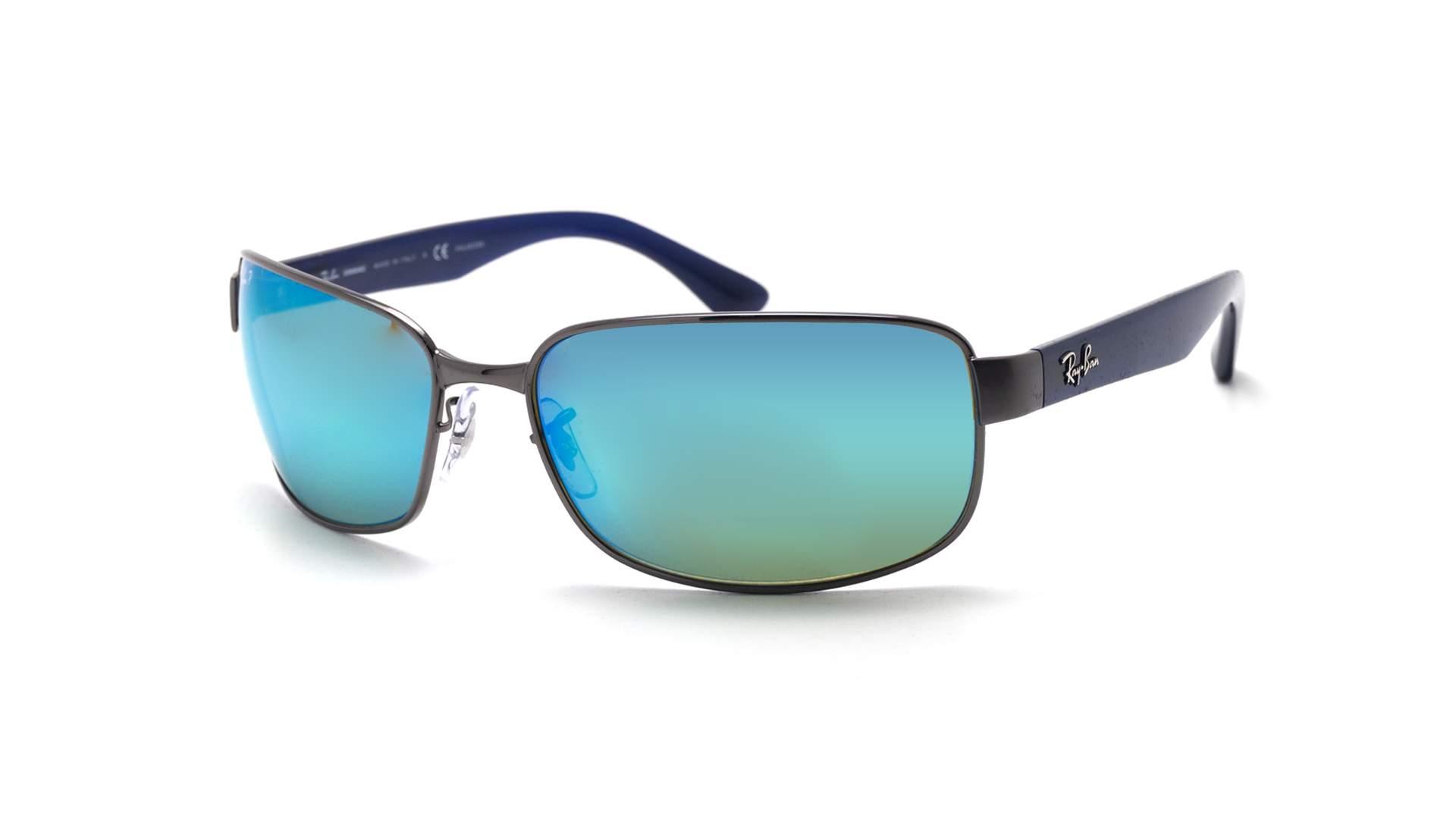 deaeba56dd11bb Sonnenbrillen Ray-Ban RB3566CH 004/A1 65-17 Blau Chromance Breit  Polarisierte Gläser Verspiegelte Gläser
