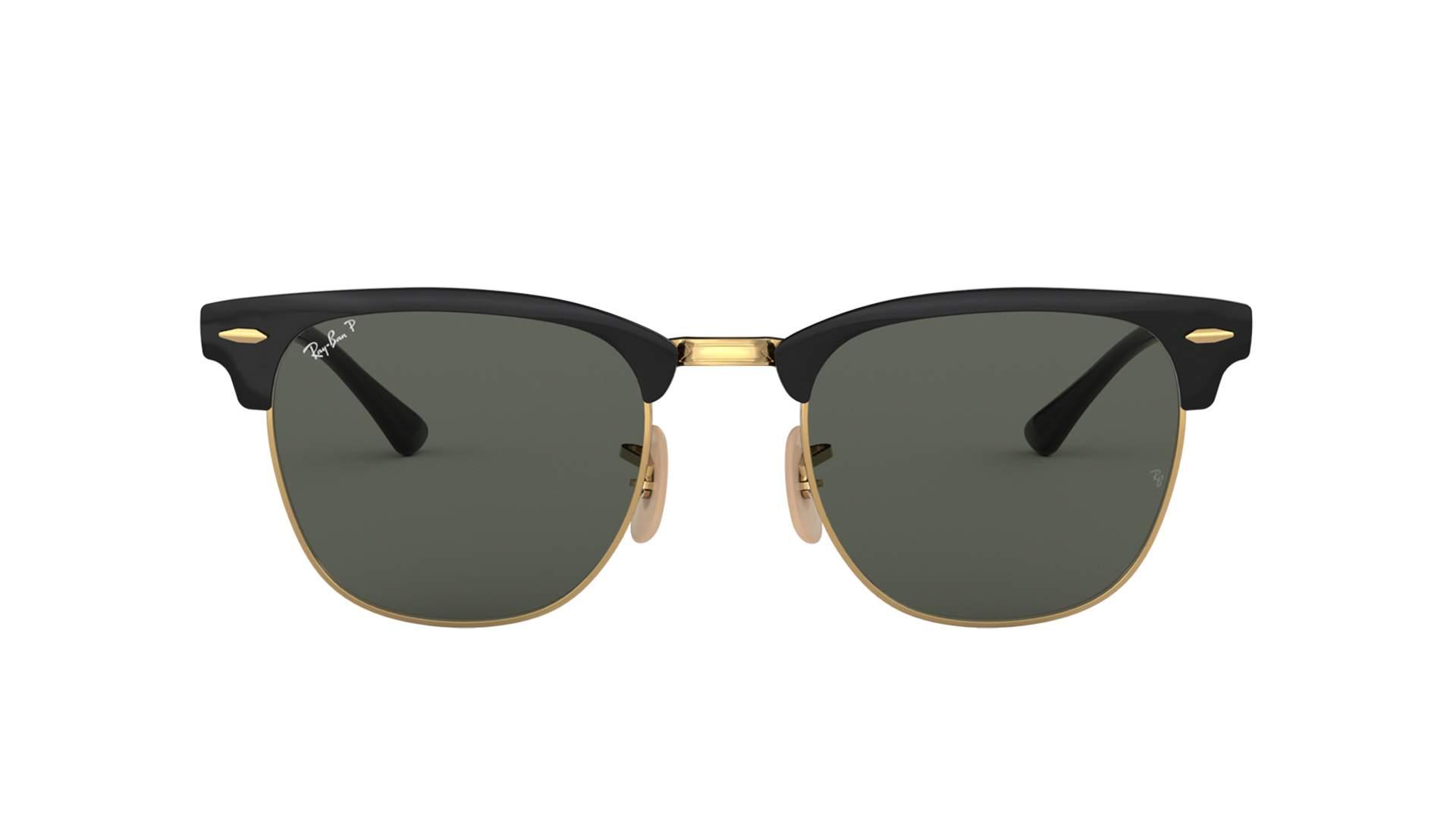 bc2b1feae Sunglasses Ray-Ban Clubmaster Metal Black RB3716 187/58 51-21 Medium  Polarized