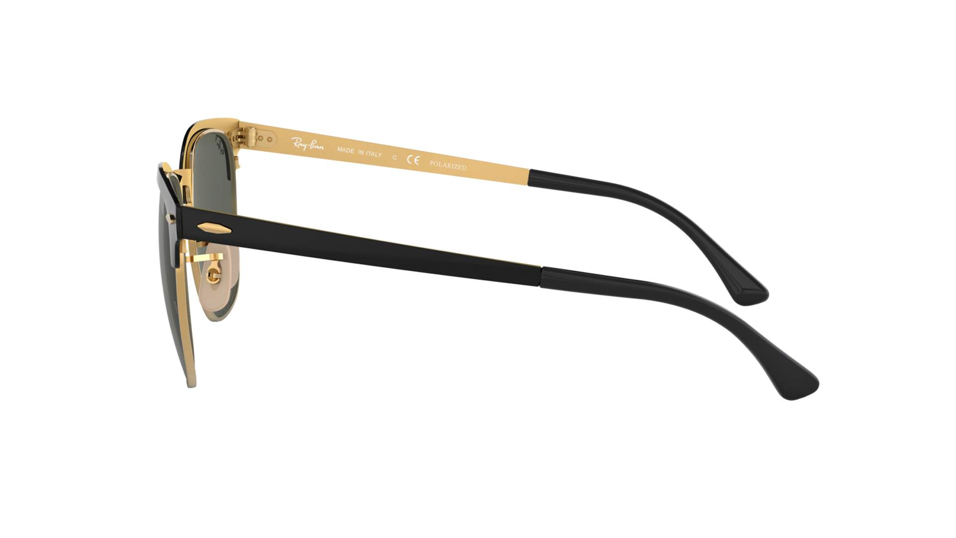 cce93e60961 Sunglasses Ray-Ban Clubmaster Metal Black RB3716 187 58 51-21 Medium  Polarized