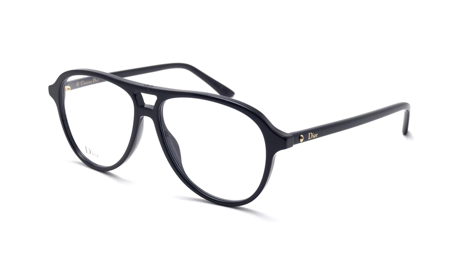87b7b08abcc8 Eyeglasses Dior Montaigne 52 Black MONTAIGNE52 807 54-13 Large
