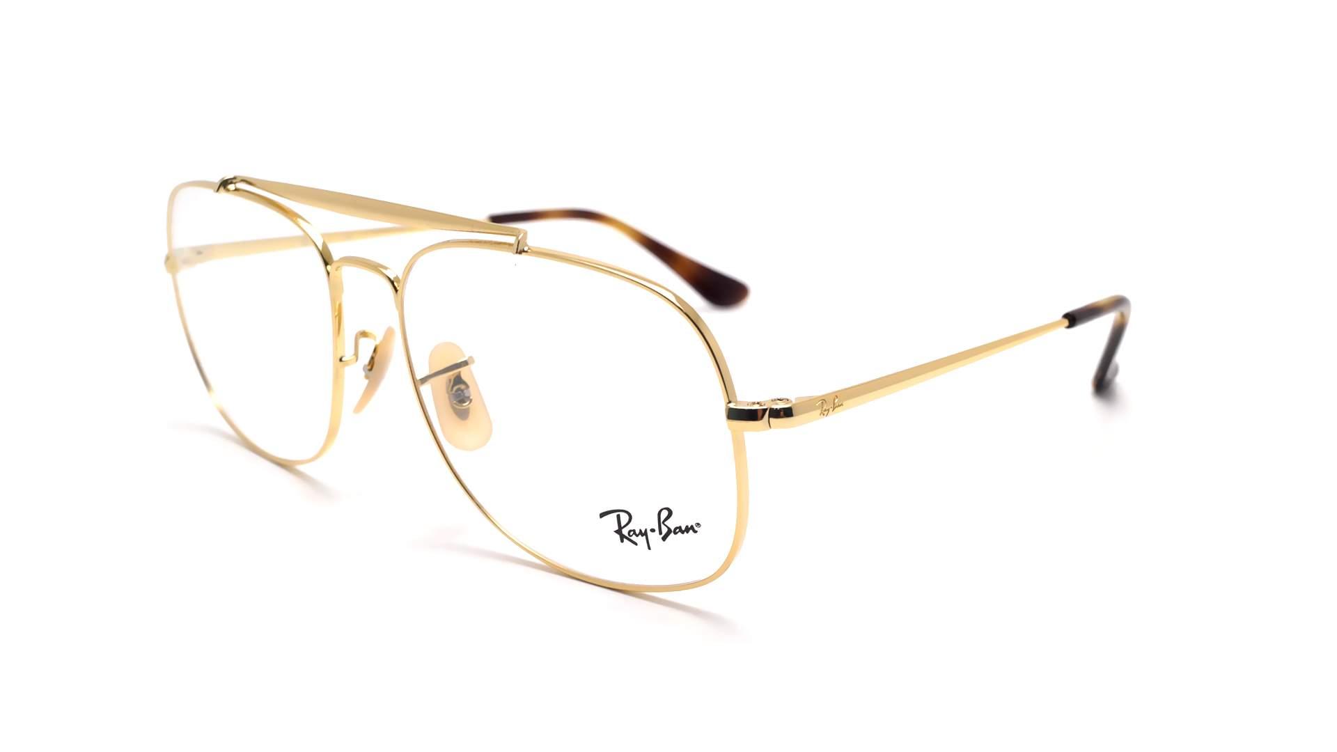 d4ec766d36 Eyeglasses Ray-Ban RX6389 RB6389 2500 55-16 Gold Medium