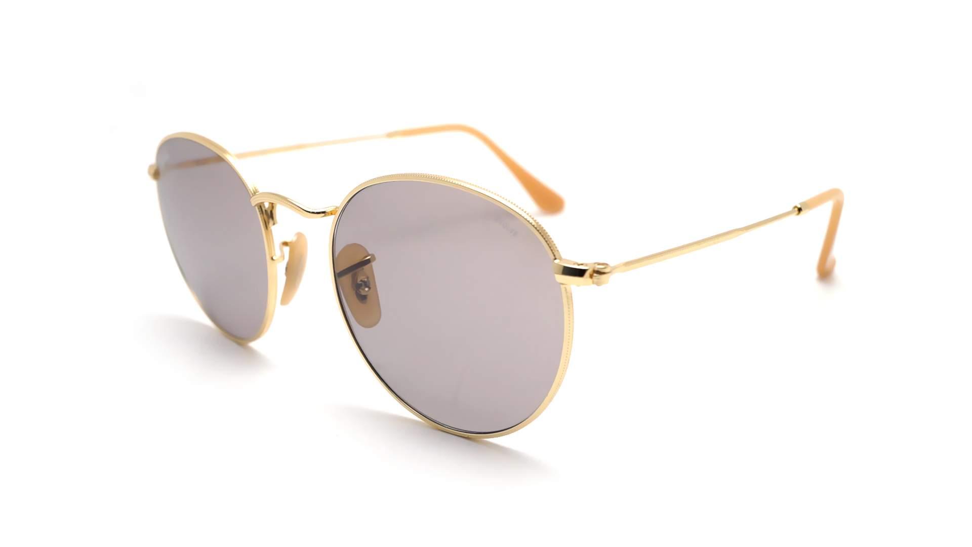 d8a670d6877 Sunglasses Ray-Ban Round Evolve Gold RB3447 9064 V8 50-21 Medium  Photochromic