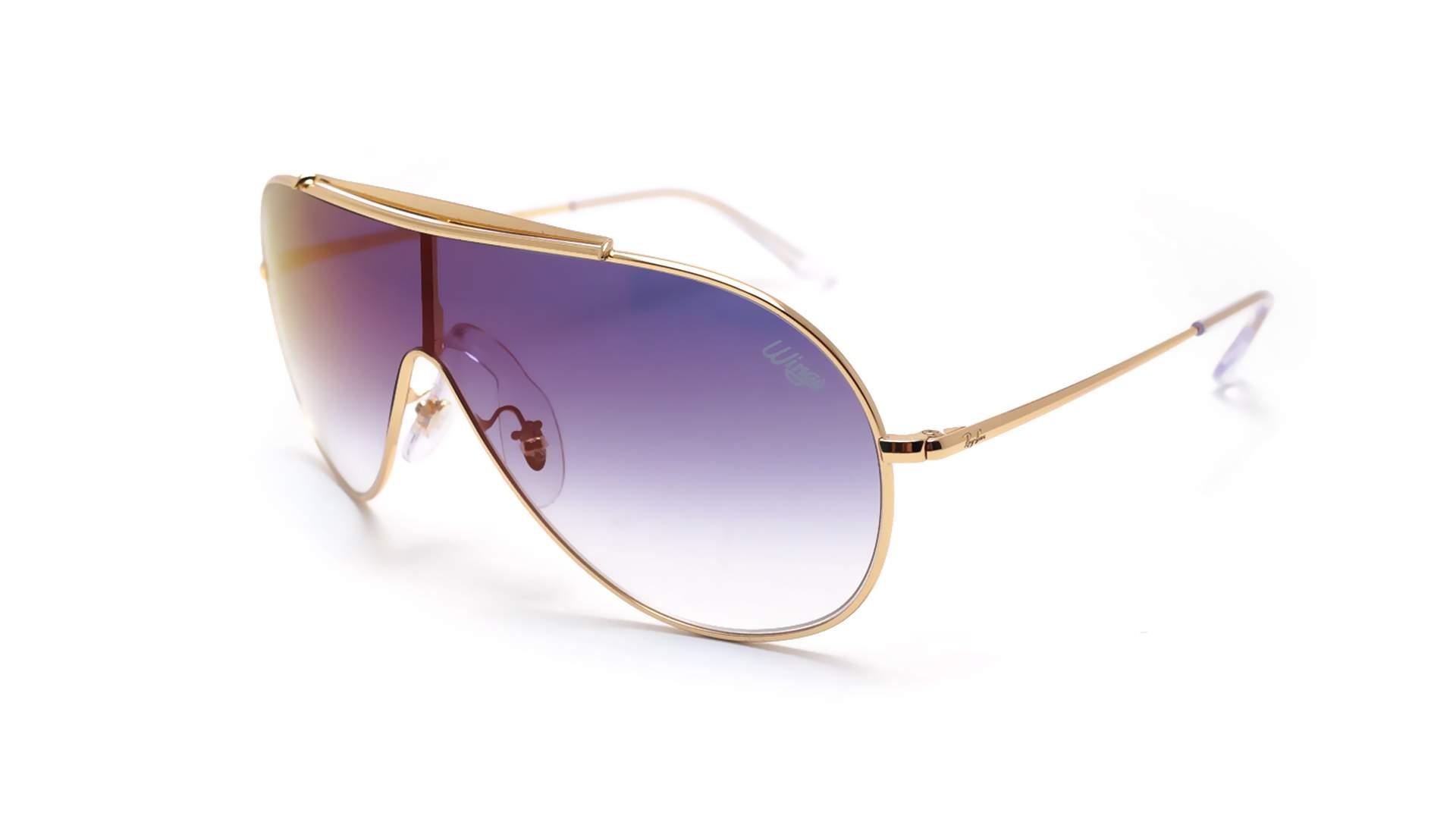d5a057b490 Sunglasses Ray-Ban Wings Gold RB3597 001 X0 33-18 Medium Gradient Mirror