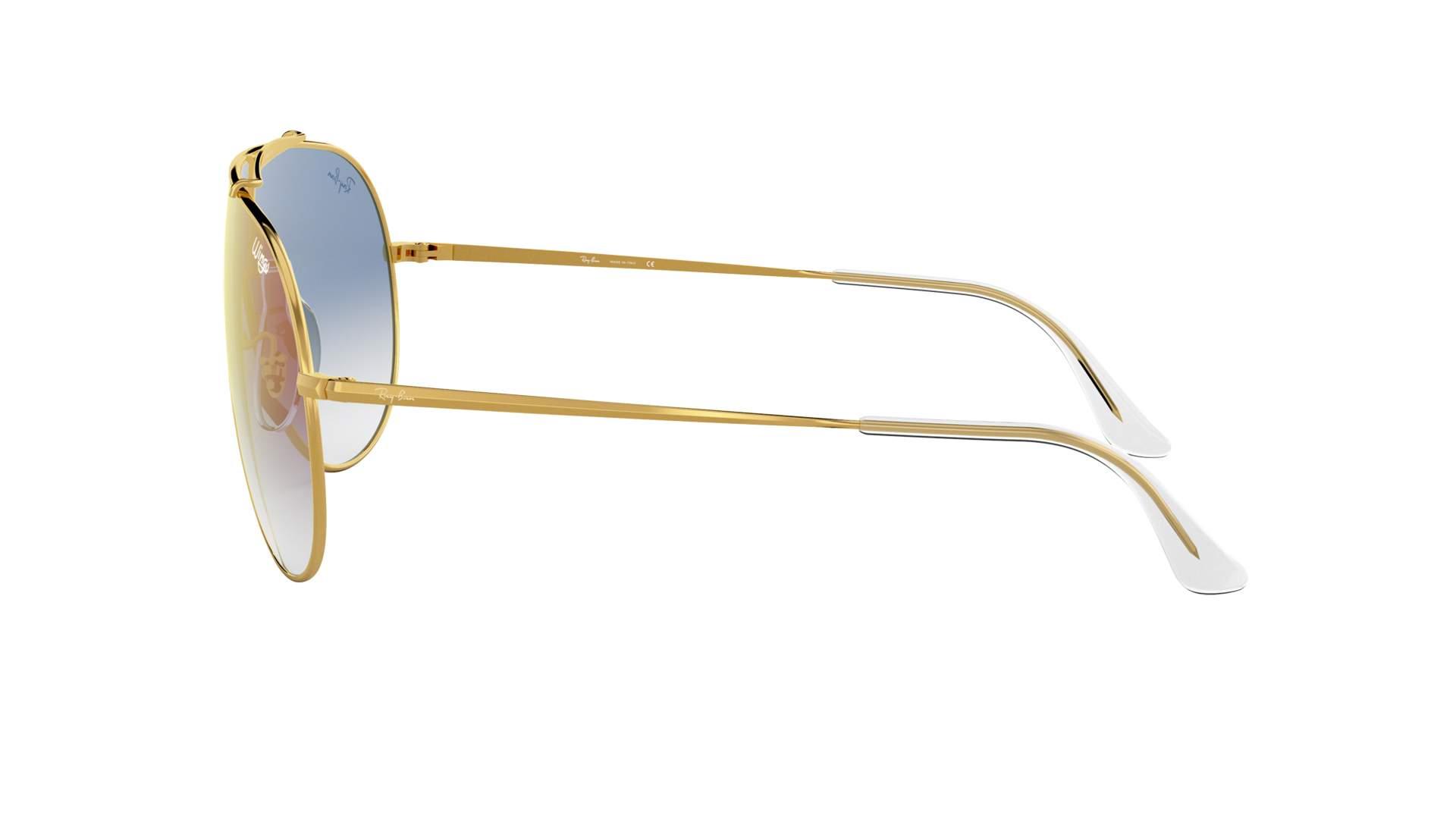 37c1bf6edc9 Sunglasses Ray-Ban Wings Gold RB3597 001 X0 33-18 Medium Gradient Mirror