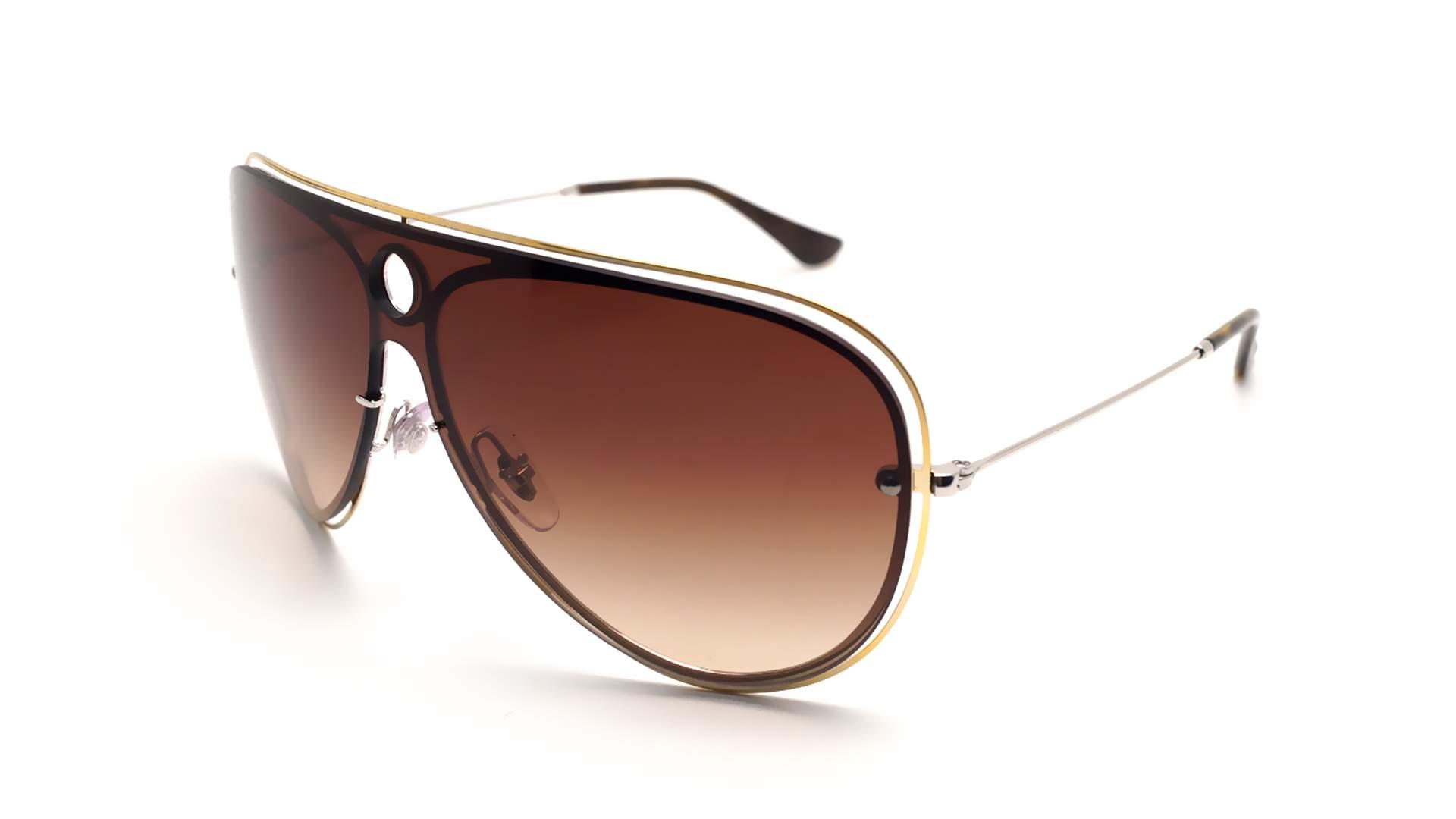 e13f0ac983 Sunglasses Ray-Ban Shooter Blaze Gold RB3605N 9096 13 32-20 Medium Gradient