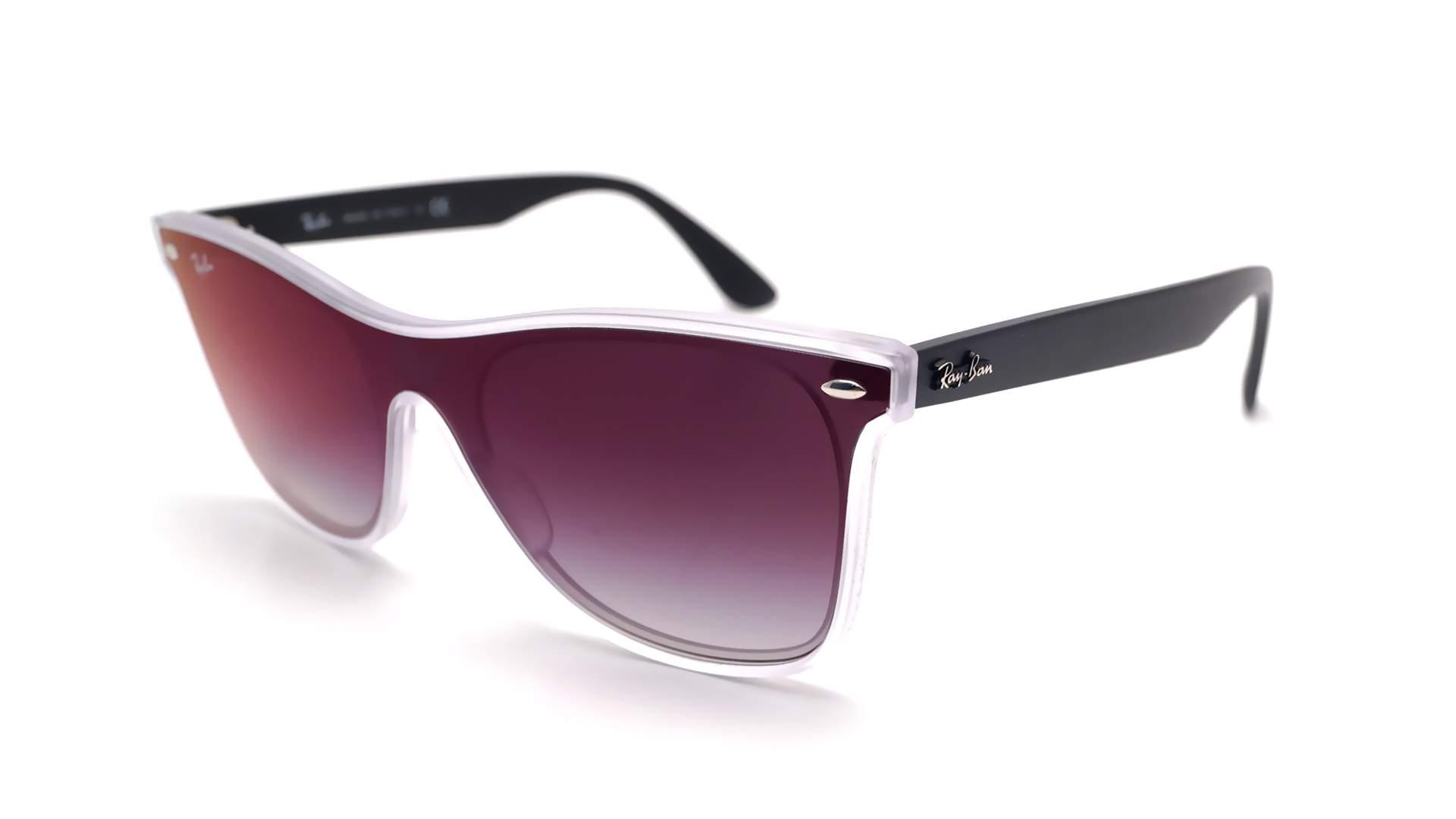 2d3b394217 Sunglasses Ray-Ban Wayfarer Blaze Black RB4440N 6355 U0 41-18 Medium  Gradient Mirror
