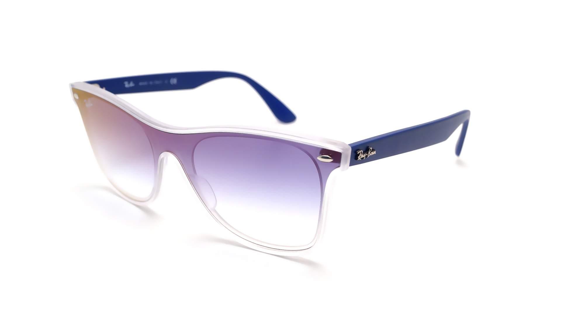 0402a2cb46 Sunglasses Ray-Ban Wayfarer Blaze Blue RB4440N 6356 X0 41-18 Medium  Gradient Mirror