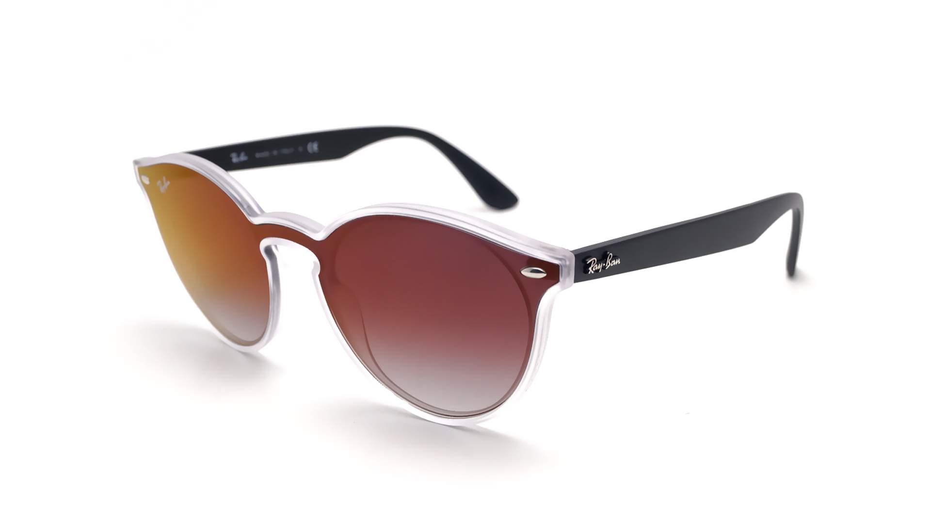 18eac6297c Sunglasses Ray-Ban Blaze RB4380N 6355 U0 37-17 Black Matte Medium Gradient  Mirror
