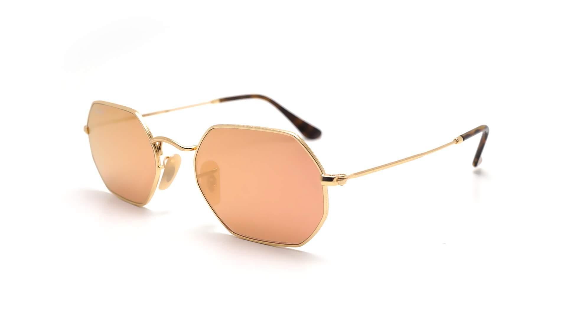 c6fb97887d Sunglasses Ray-Ban Octagonal Gold RB3556N 001 Z2 53-21 Medium Mirror