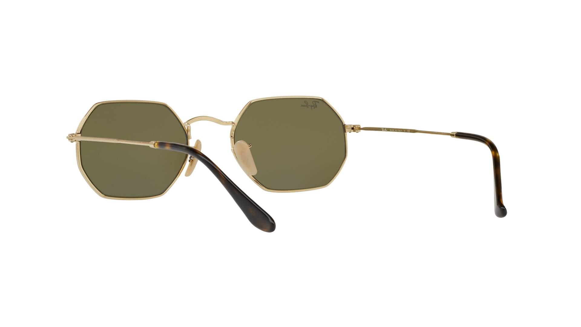 215857e4ddd Sunglasses Ray-Ban Octagonal Gold RB3556N 001 9O 53-21 Medium Mirror