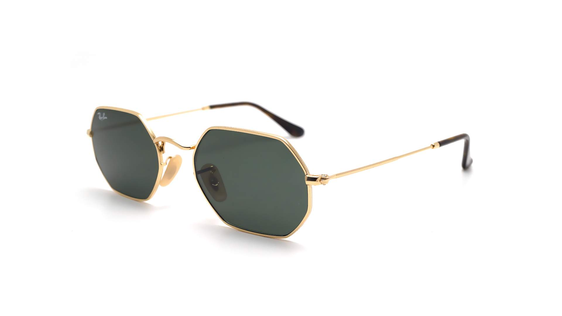 b3078f5c13 Sunglasses Ray-Ban Octagonal Gold RB3556N 001 53-21 Medium