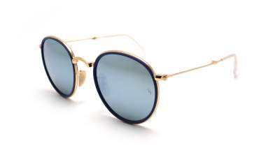 9873343f7c4ed Ray-Ban Round Folding Flash lenses Blue RB3517 001 30 51-22 ...