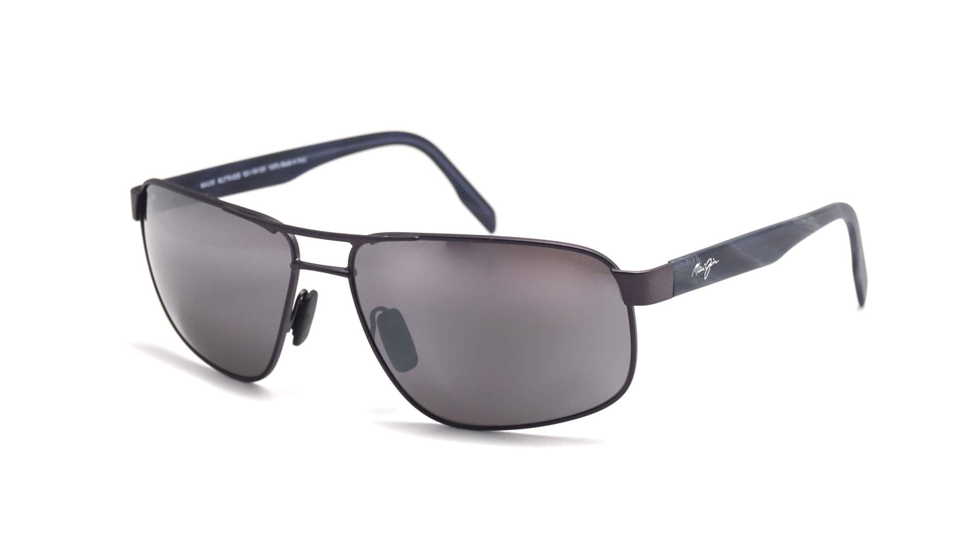 5ae9ba71b2 Sunglasses Maui Jim Whitehaven Black Matte Minéral superthin 776-02S 63-16  Large Polarized