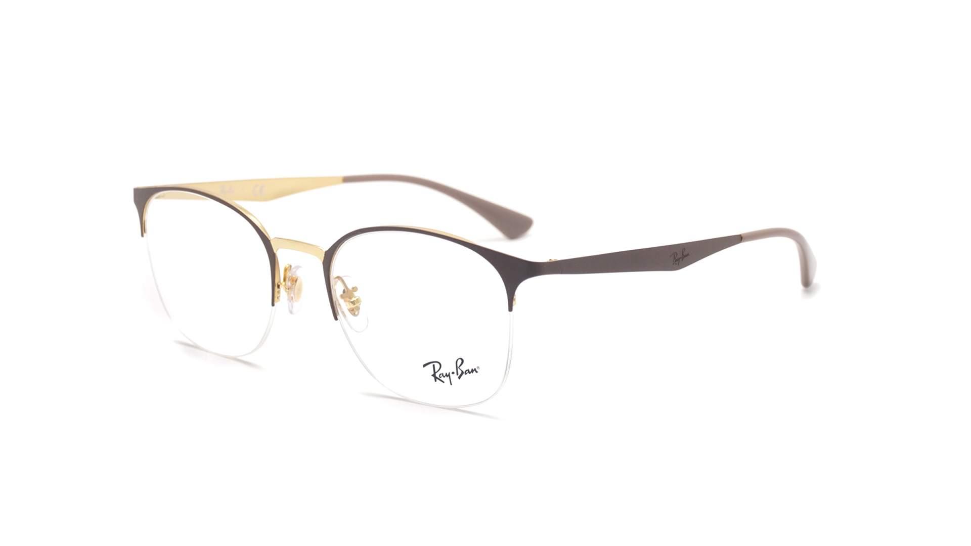 7b8e0e3a357 Eyeglasses Ray-Ban RX6422 RB6422 3005 49-19 Marron Matte Small