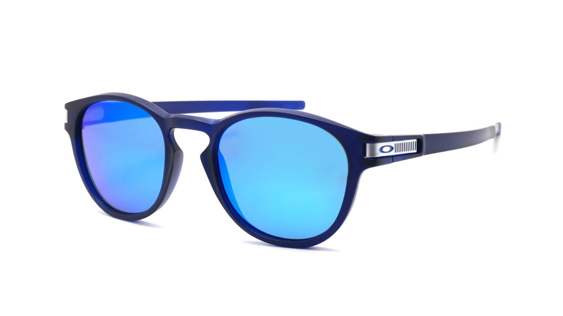 cf4e2c3f98bcab Lunettes de soleil Oakley Latch Grid collection Bleu Mat Prizm OO9265 42  53-21 Medium Miroirs