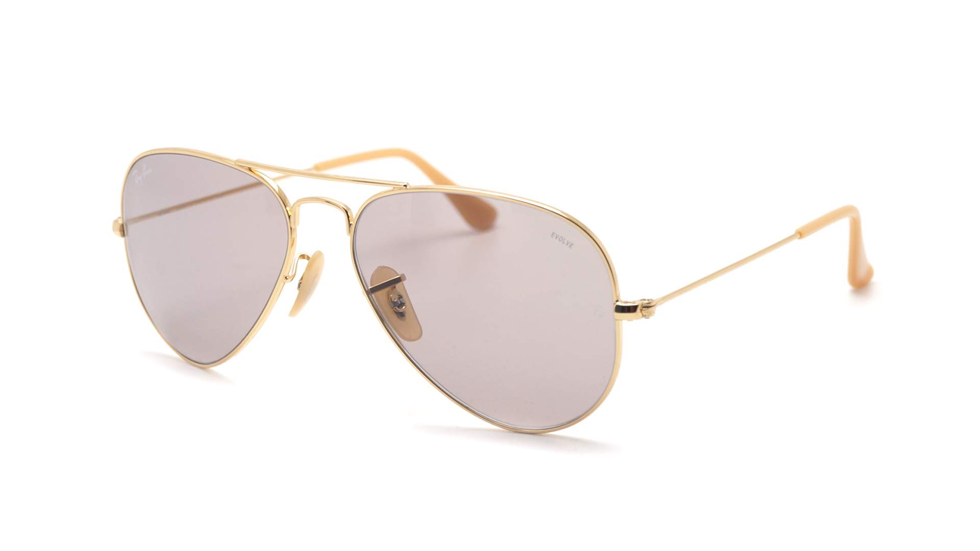 204a81ea6d4409 Lunettes de soleil Ray-Ban Aviator Evolve Or RB3025 9064 V8 55-14 Small  Photochromiques