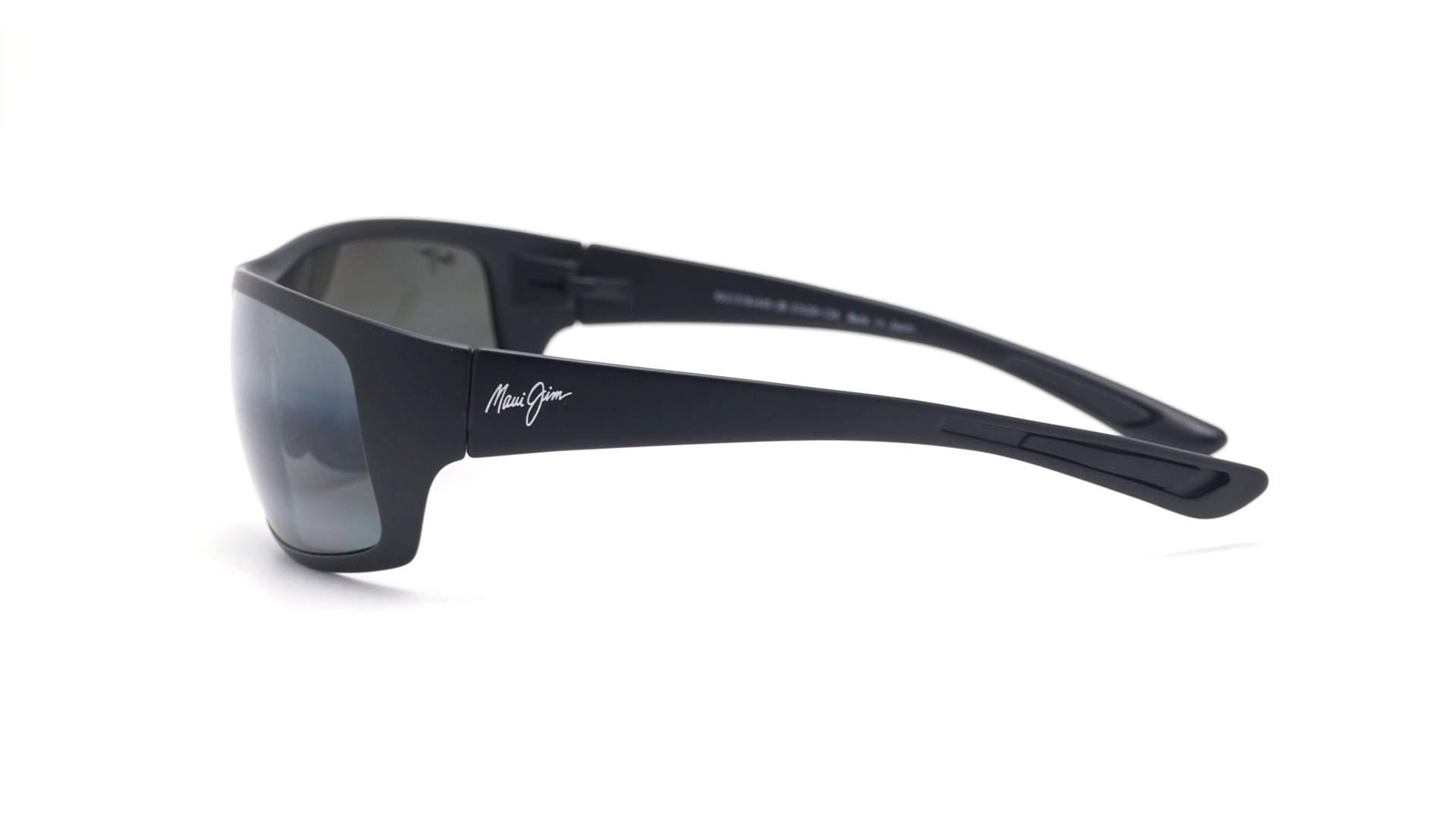 6b54c5a4763 Sunglasses Maui Jim Big wave Black Matte Maui pure 440-2M Polarized  Gradient Mirror