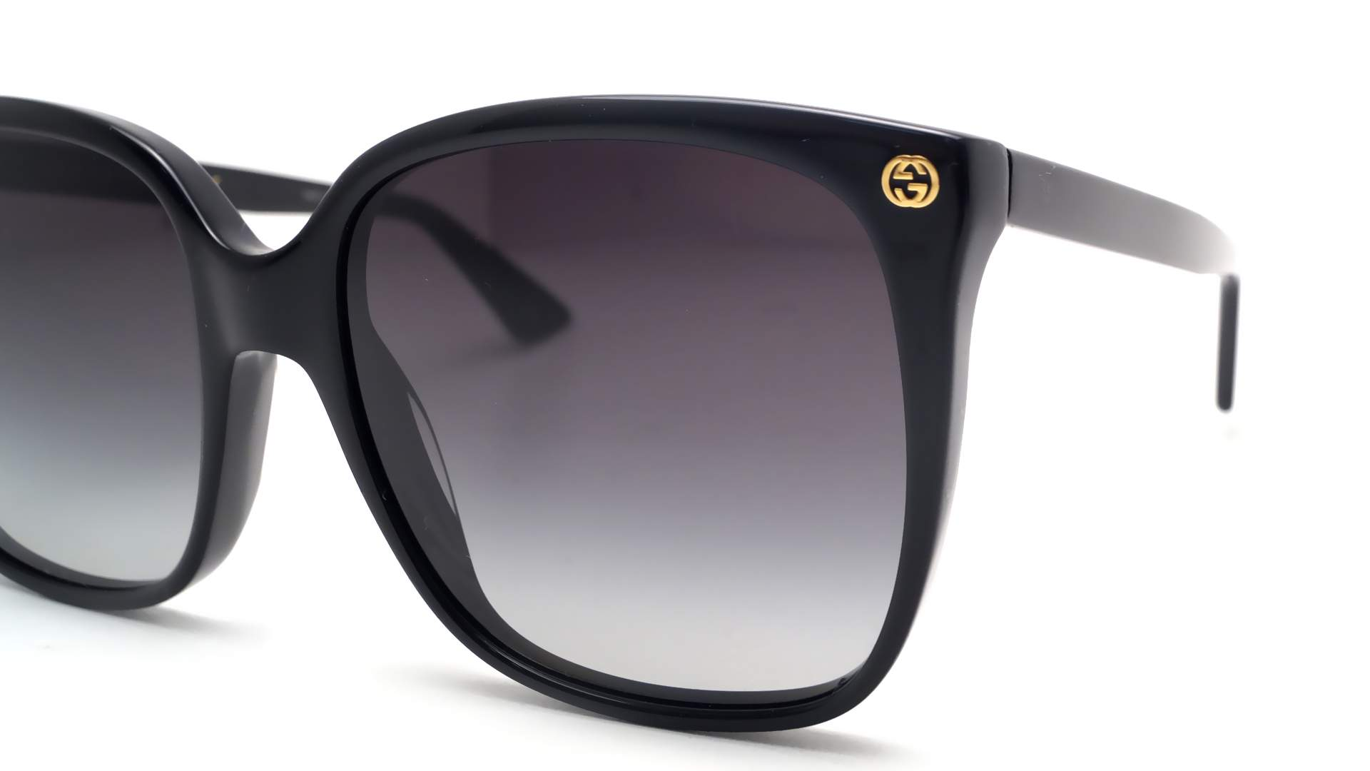 443ffc32373 Sunglasses Gucci GG0022S 001 57-18 Black Large Gradient