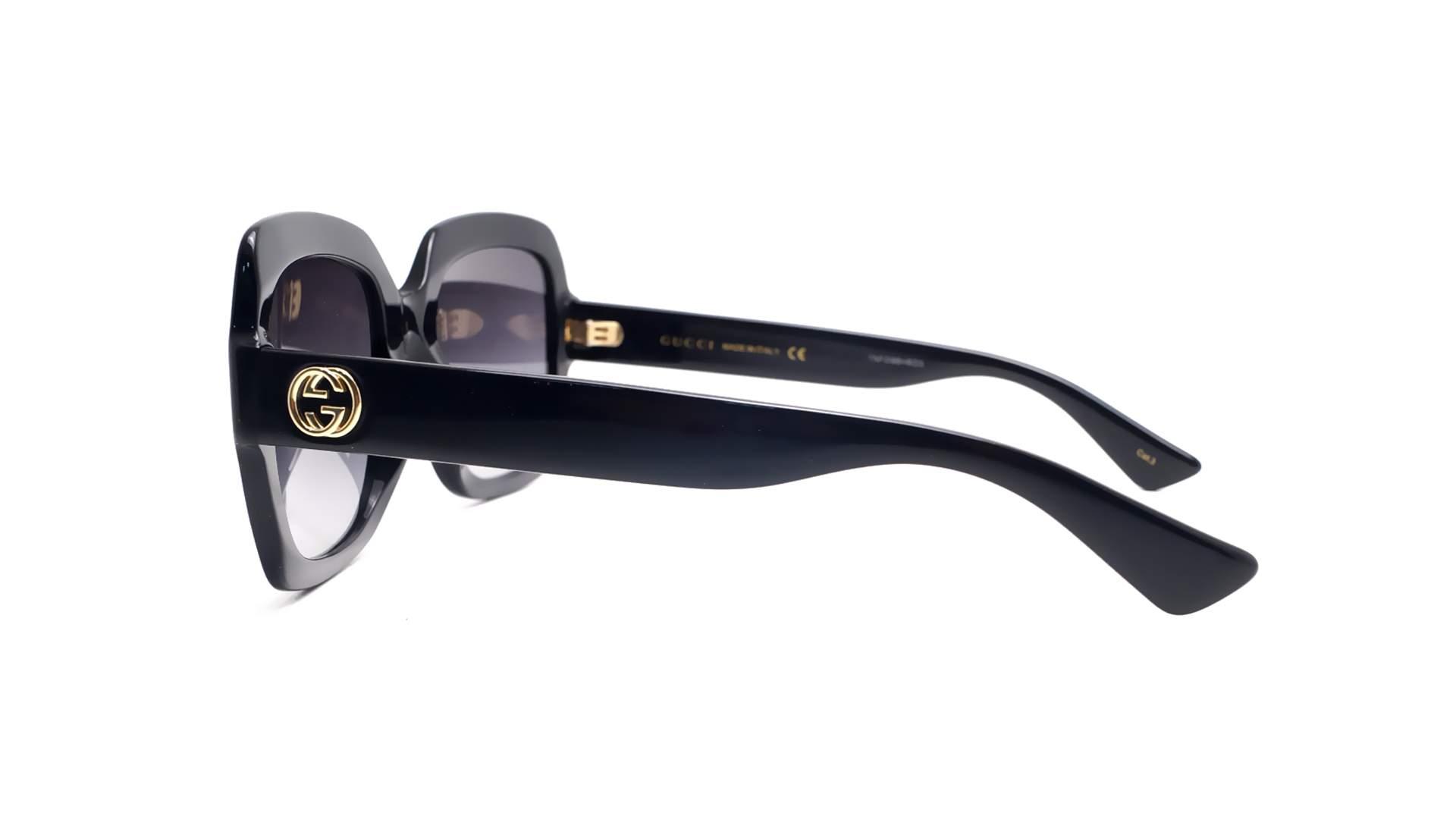 471883f459 Sunglasses Gucci GG0036S 001 54-22 Black Medium Gradient