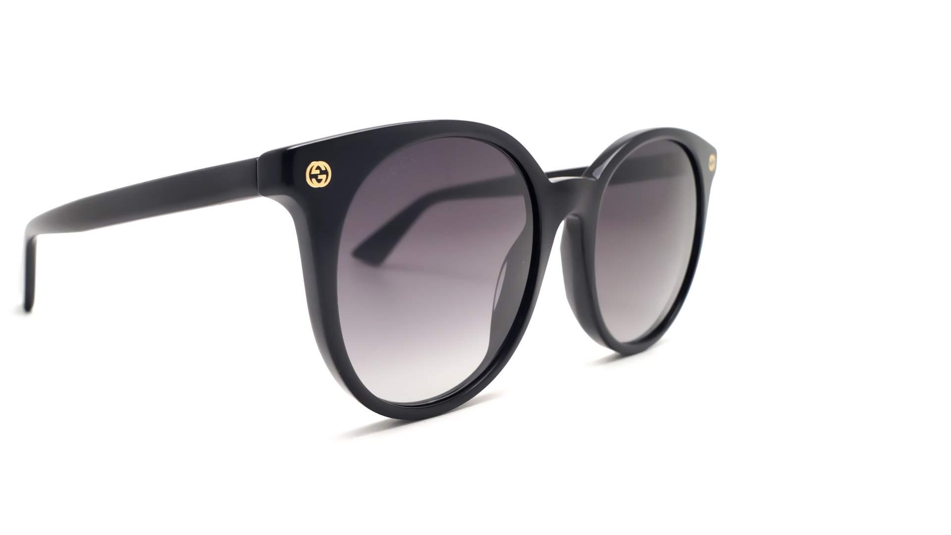 fb3b13f6f73 Lunettes de soleil Gucci GG0091S 001 52-20 Noir Medium Dégradés
