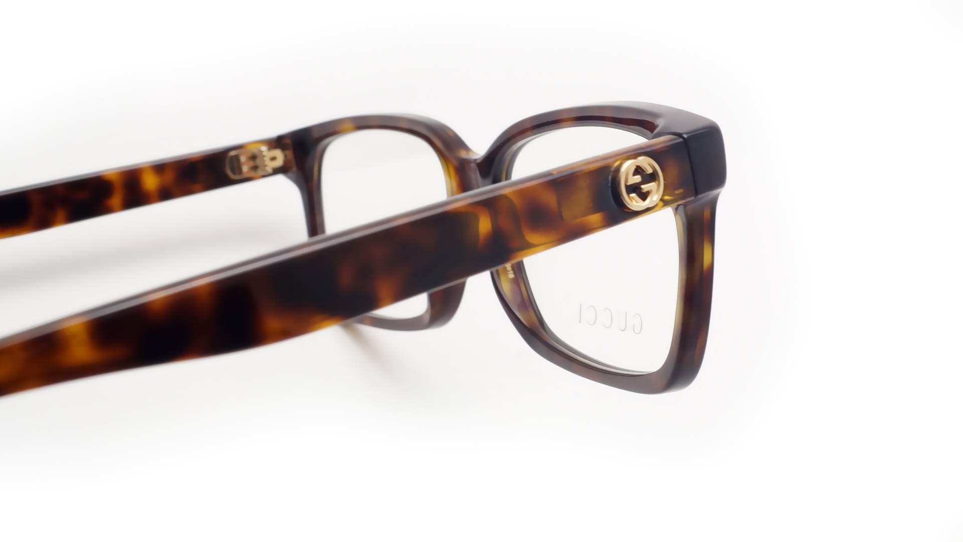 a7b134688f Eyeglasses Gucci GG0168O 006 55-16 Tortoise Medium