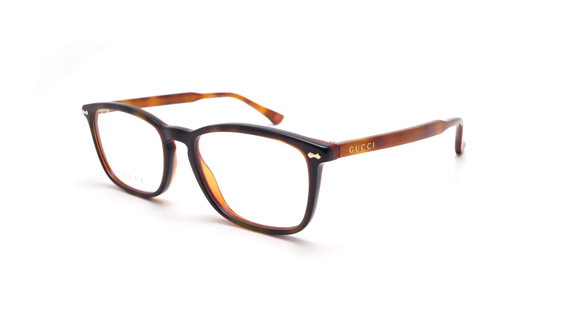 bba0bfb56f3fc5 Brillen Gucci GG0188O 005 53-18 Havana Mittel