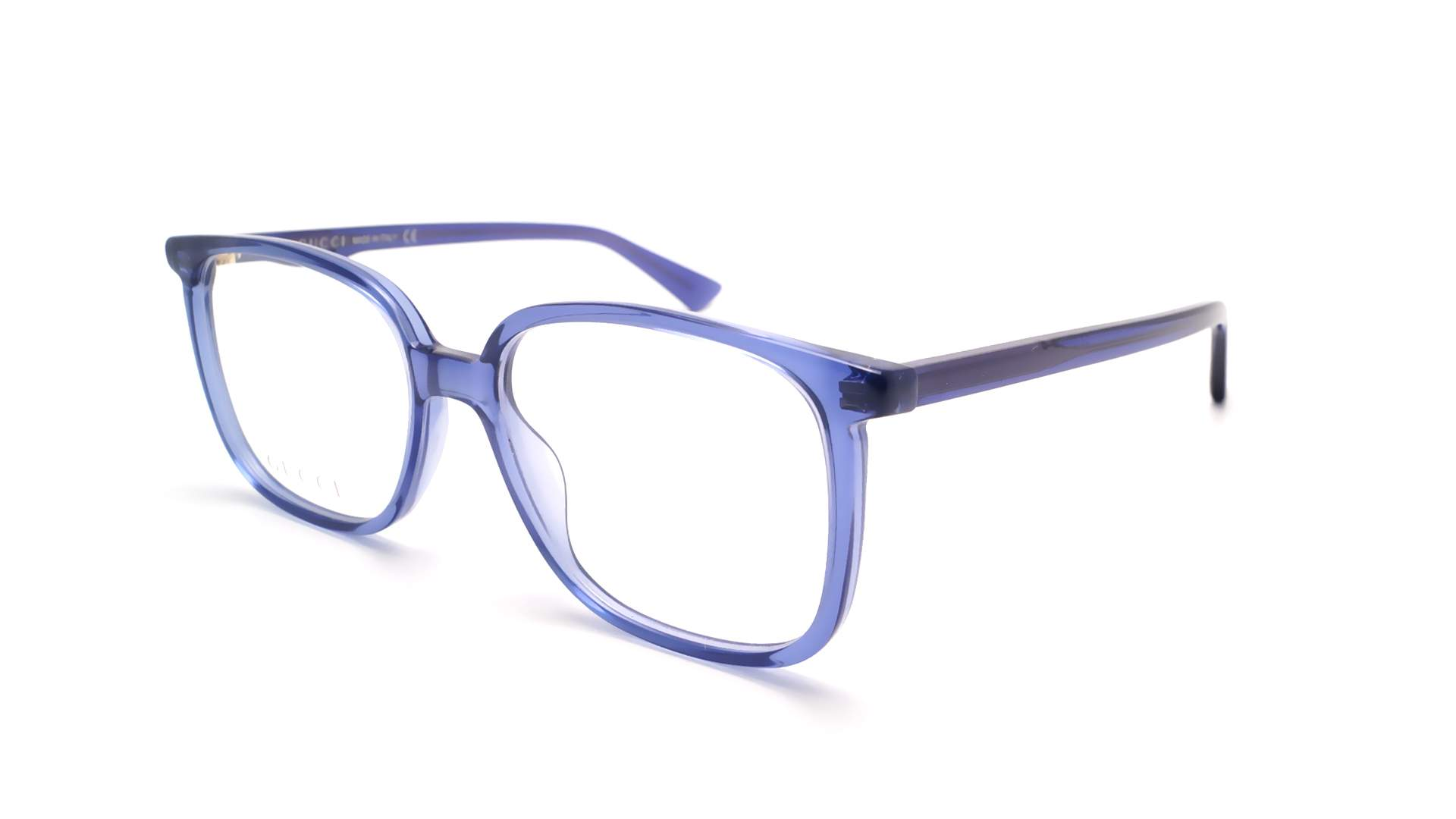 2ccbff35103 Eyeglasses Gucci GG0260O 003 53-17 Blue Medium