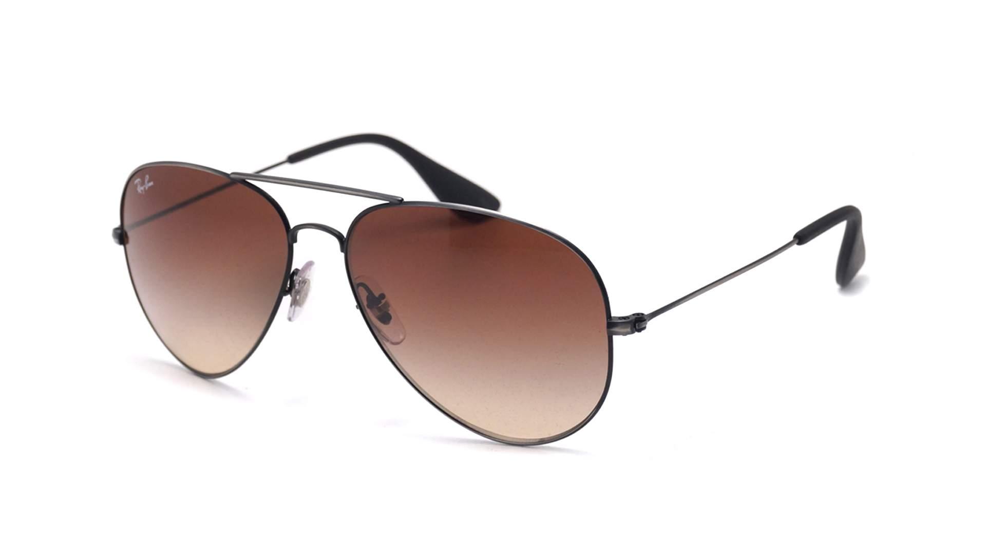 81da9e2123 Sunglasses Ray-Ban RB3558 913913 58-14 Black Matte Large Gradient