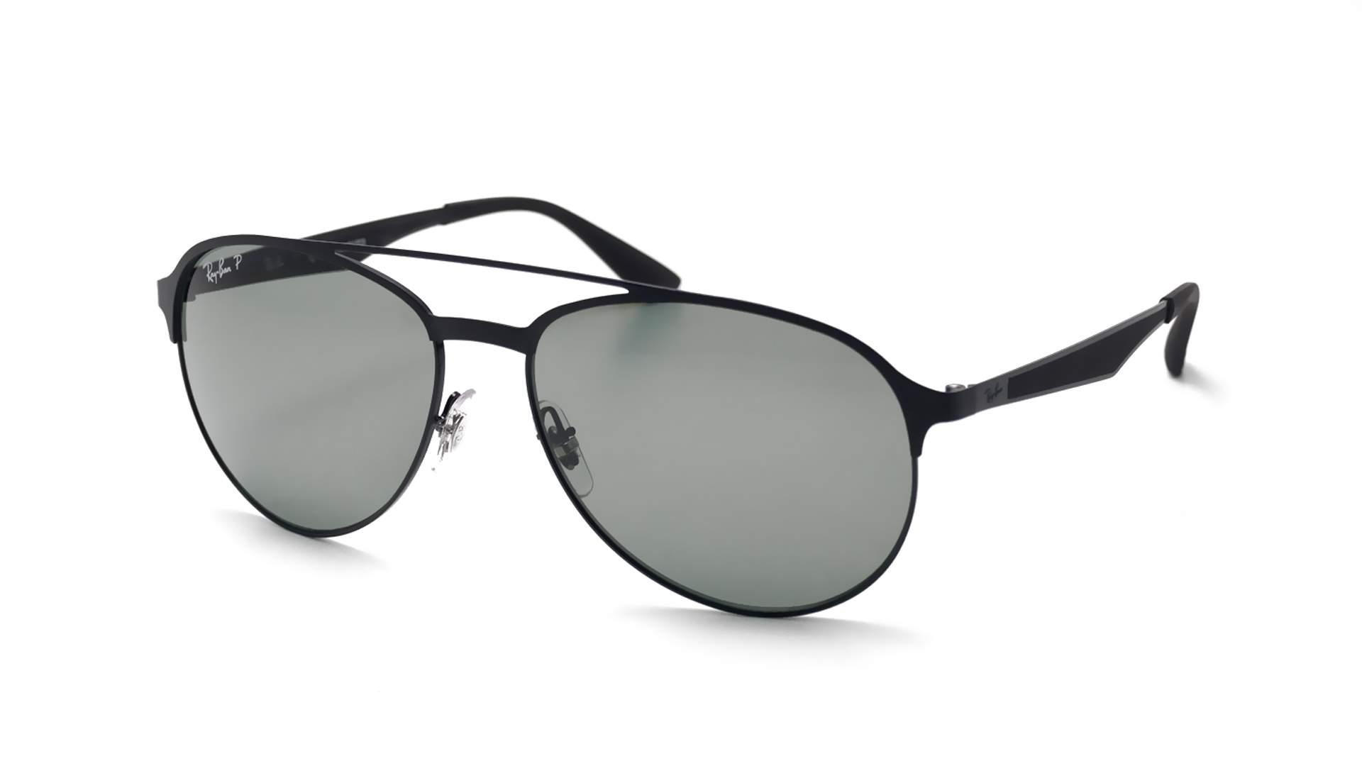 Sunglasses Ray-Ban RB3606 186 9A 59-16 Black Matte Large Polarized 47e8d7bb8ab2
