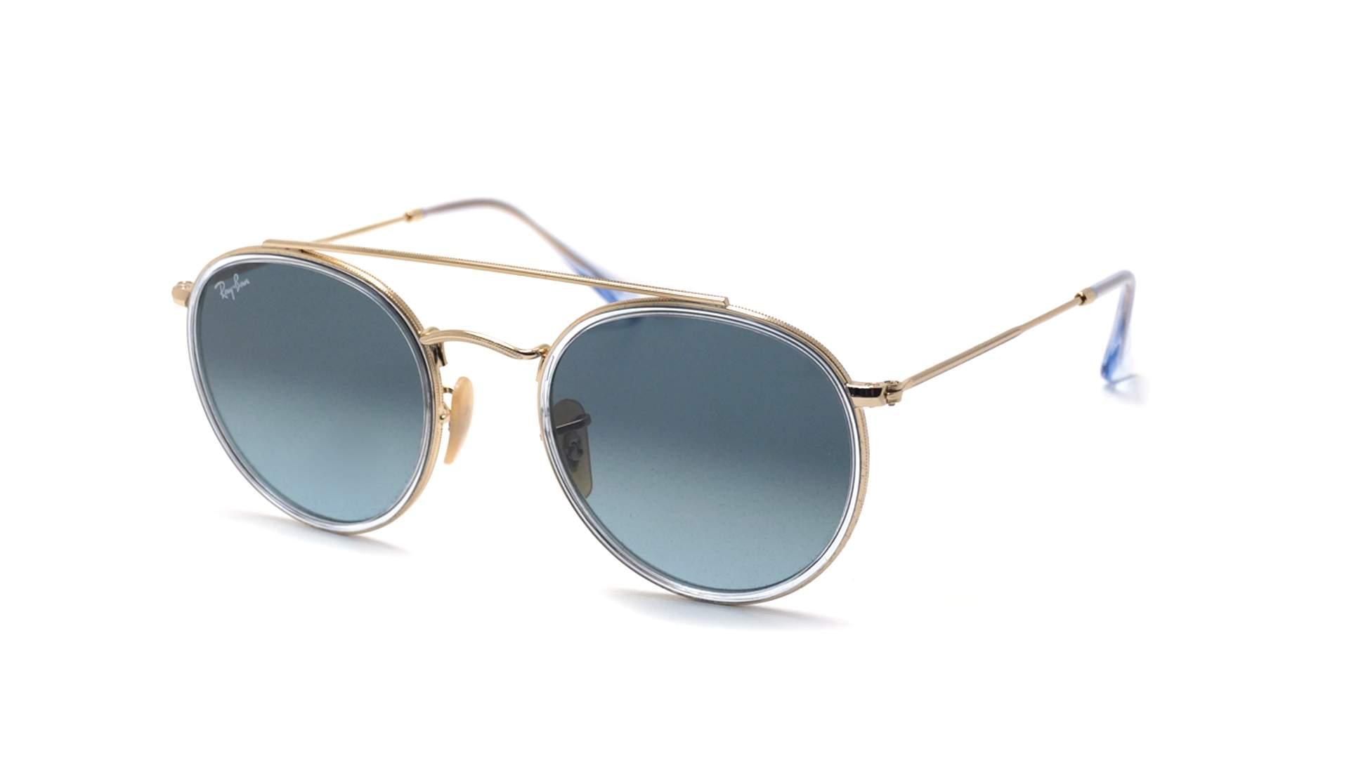 adae3ee794b7e Sunglasses Ray-Ban Round Double Bridge Silver RB3647N 91233M 51-22 Medium  Gradient