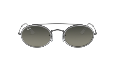 Ray-Ban Oval Double Bridge Gris RB3847N 004/71 52-23