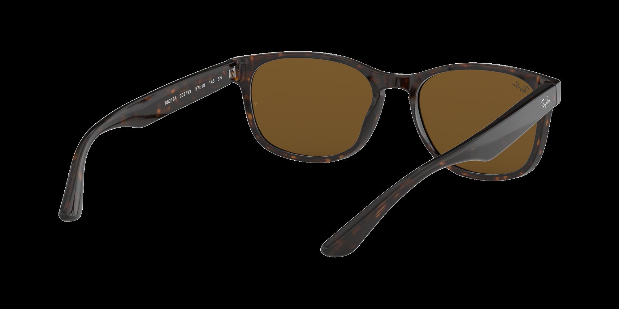 9ed66714e3 Sunglasses Ray-Ban RB2184 902 33 57-18 Tortoise Large