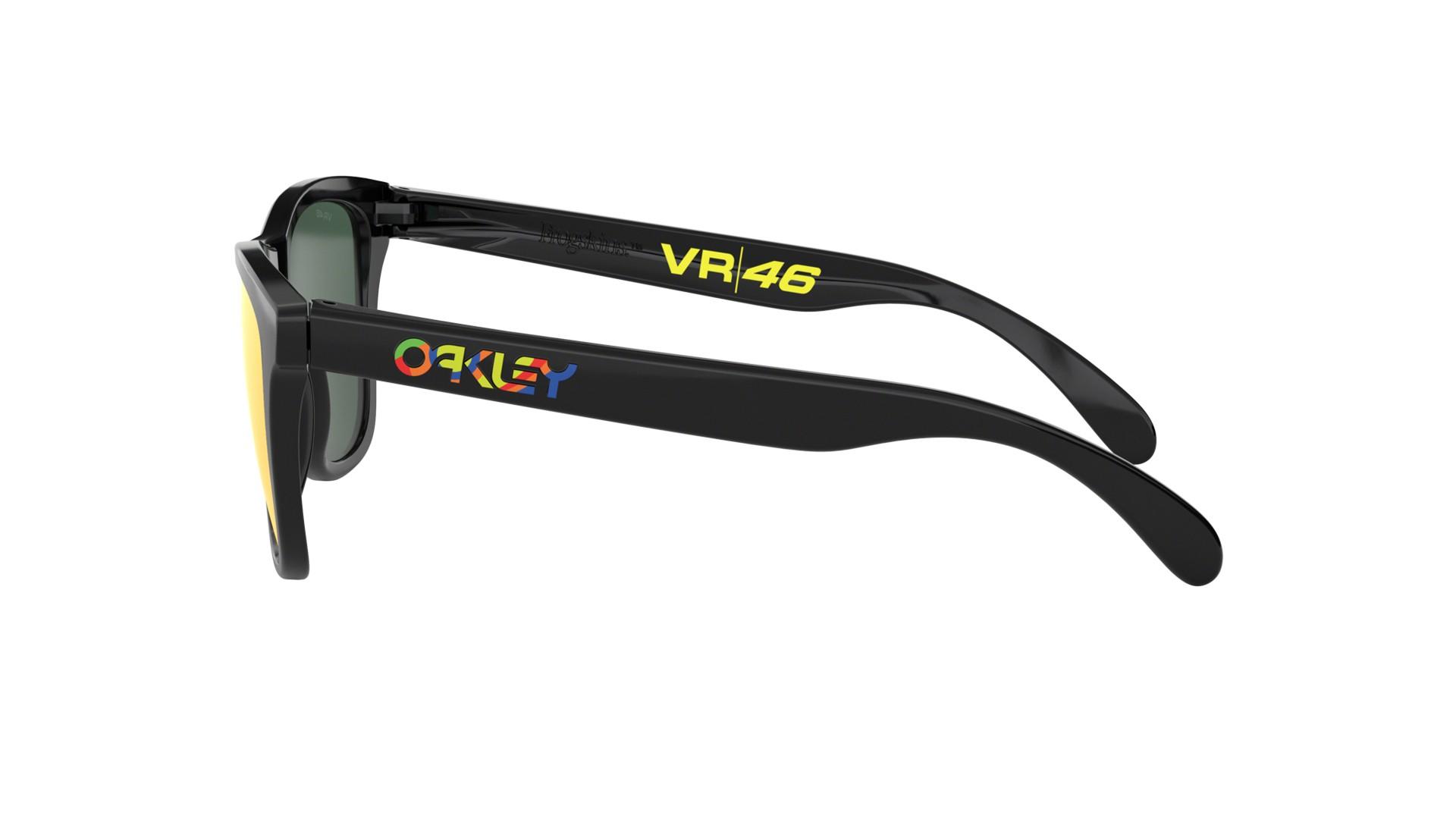 ffb23fbcadf Lunettes de soleil Oakley Frogskins Valentino Rossi Vr46 Noir Prizm OO9013  E6 55-17 Medium Miroirs