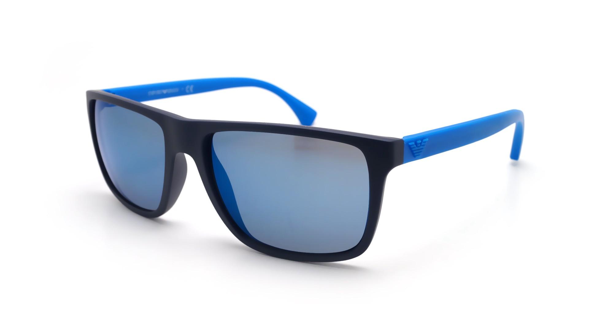 8add3695e4daf Sunglasses Emporio Armani EA4033 565055 56-17 Blue Mat Large
