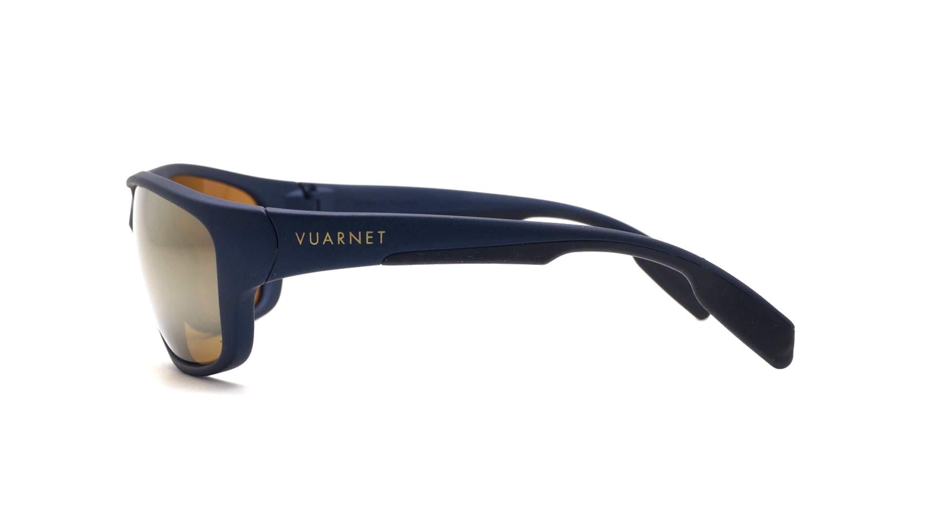 17b796e411 Sunglasses Vuarnet Active Large Black Matte Blue polar VL1402 0001 62-15  Large Polarized